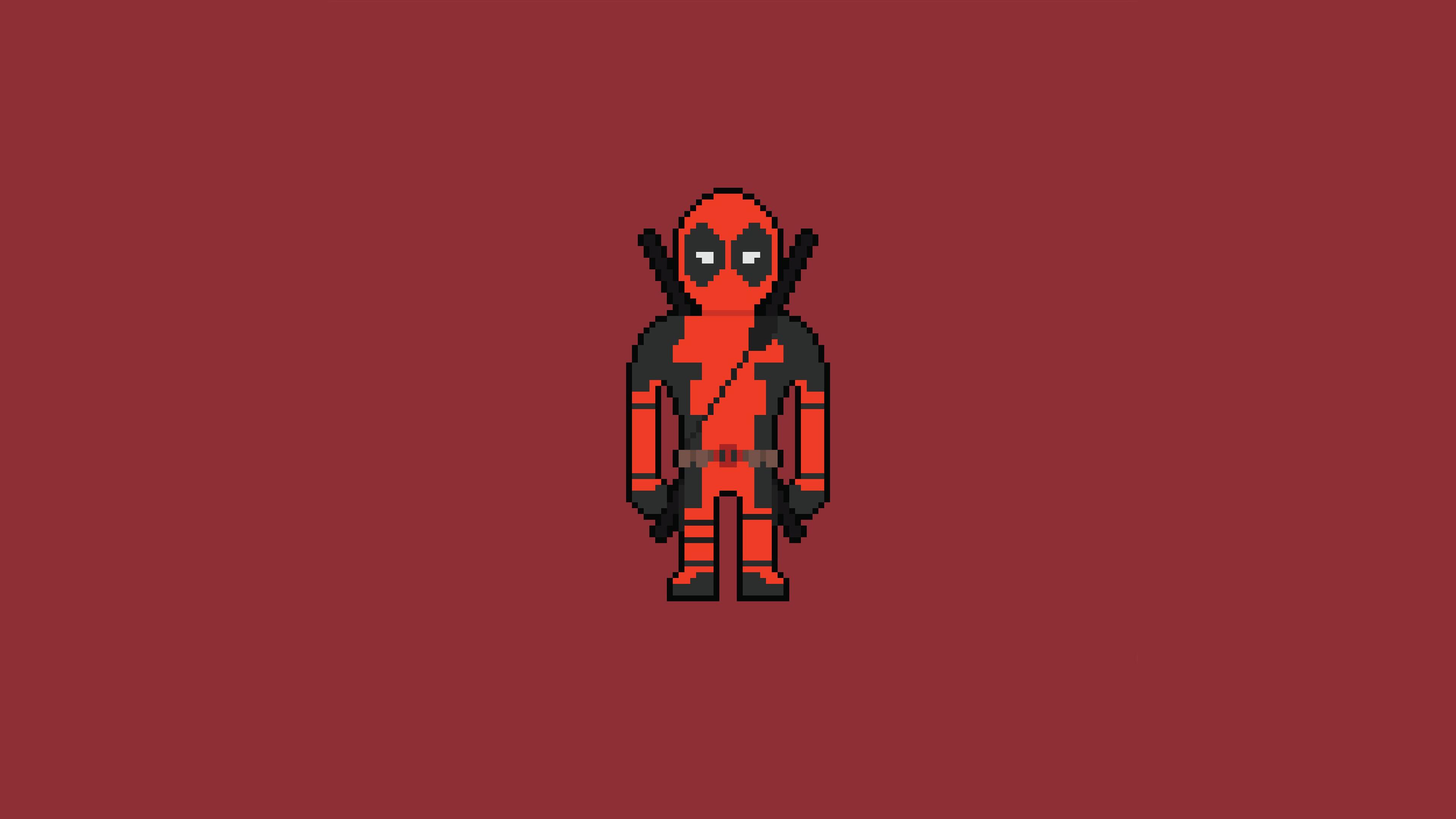 Pixel Deadpool Art Hd Superheroes 4k Wallpapers Images