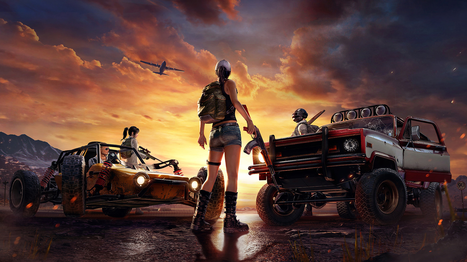 Playerunknown S Battlegrounds Wallpaper M4: 1366x768 PlayerUnknowns Battlegrounds Art 1366x768