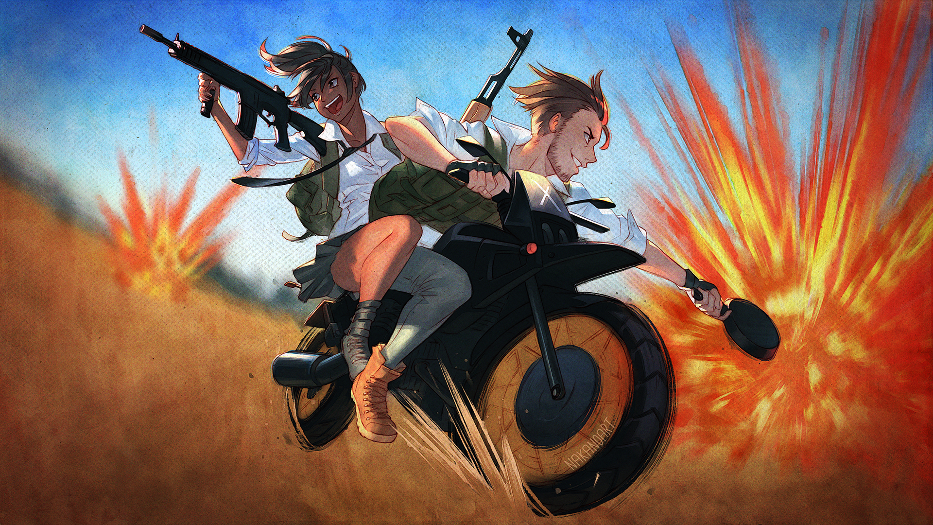 2048x1152 Pubg Bike Rider 4k 2048x1152 Resolution Hd 4k: PlayerUnknowns Battlegrounds Artwork, HD Games, 4k
