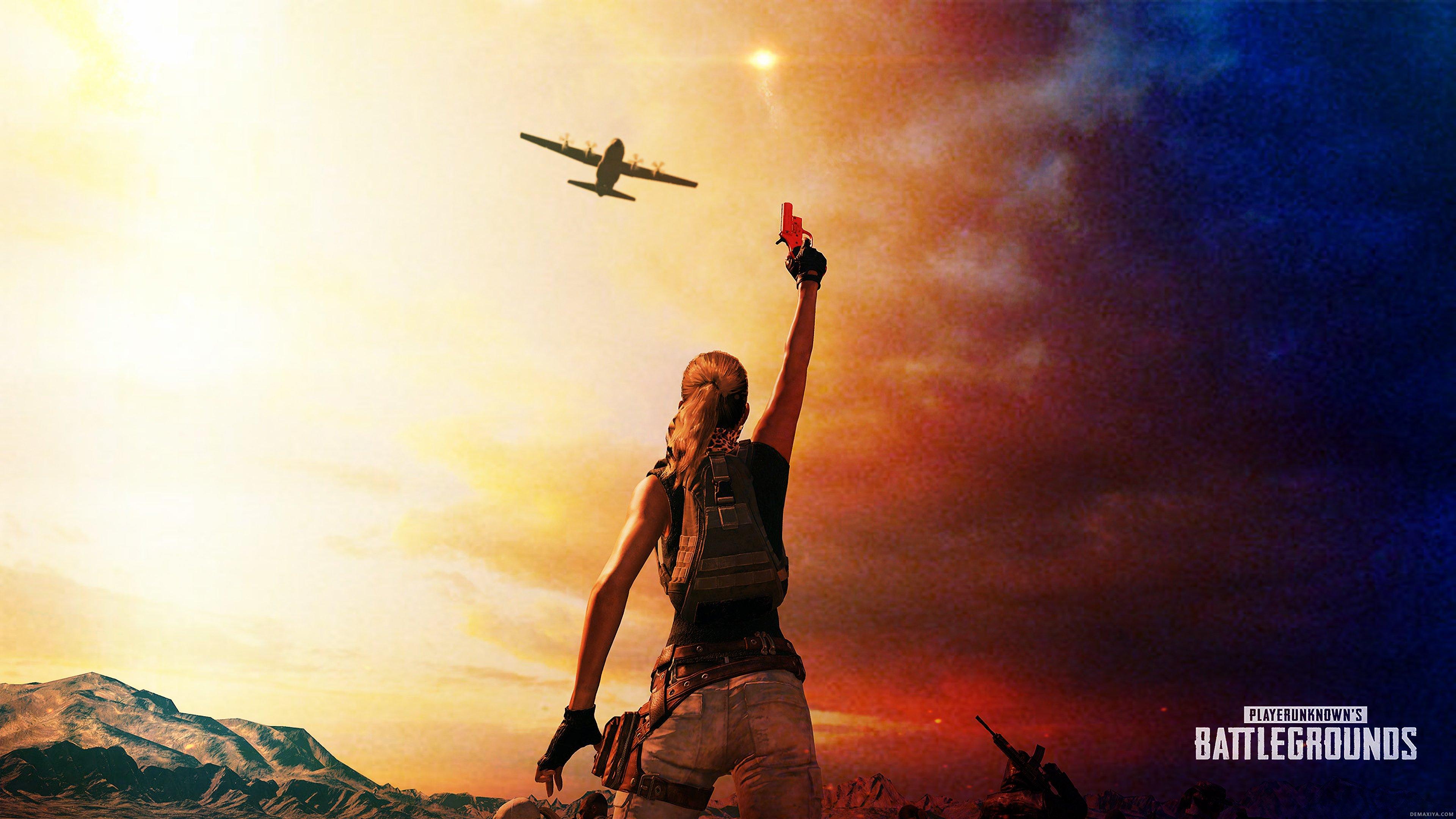 Pubg Wallpaper 1366 X 768: 1366x768 PlayerUnknowns Battlegrounds Flare Gun Miramar 4k