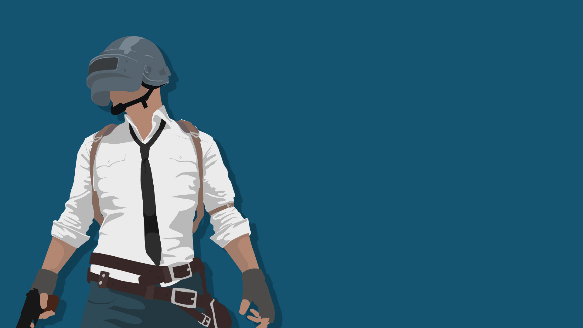 Pubg Minimalist Pophead Full Hd Wallpaper: Playerunknowns Battlegrounds Minimalism, HD Games, 4k