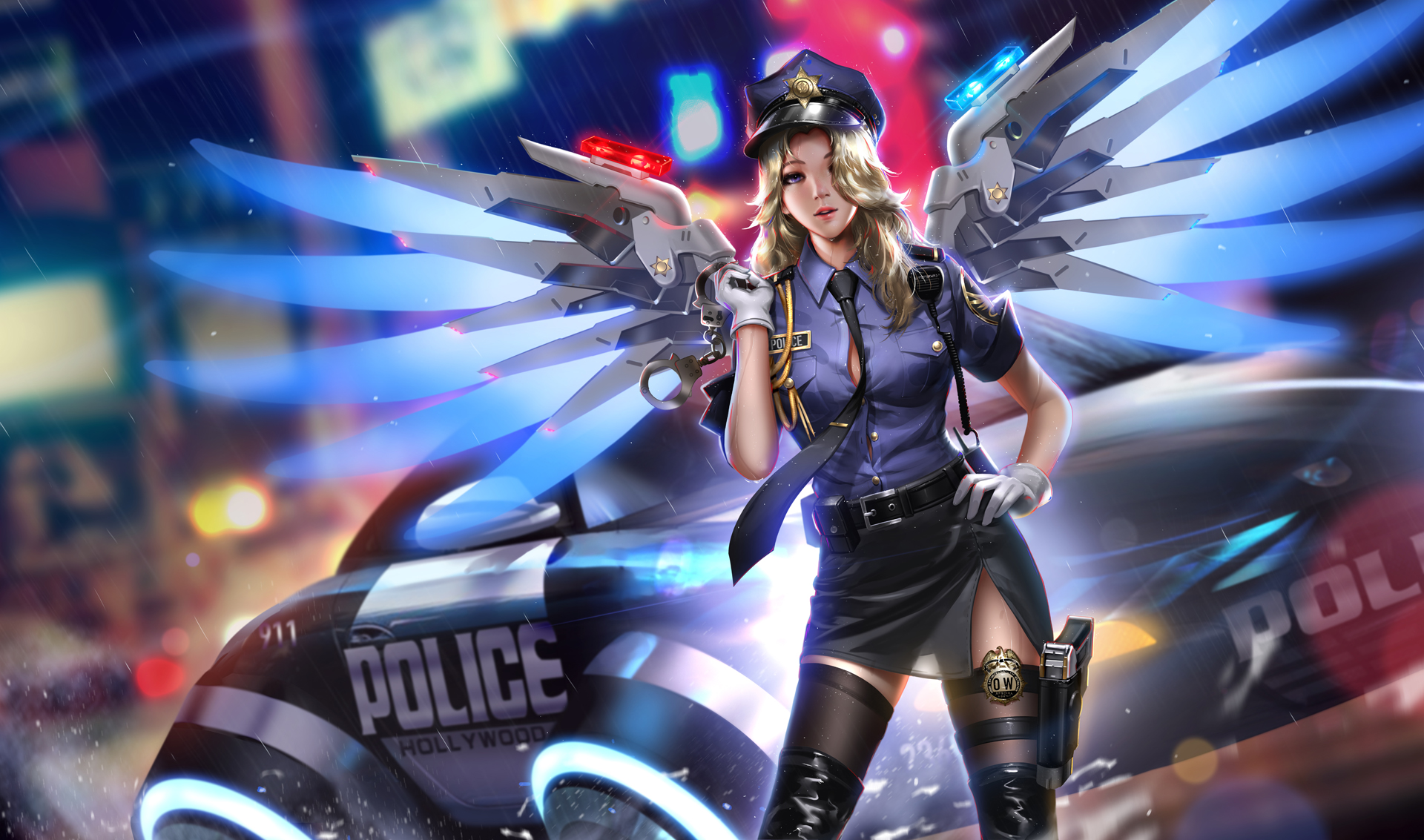 Police Girl Mercy Overwatch 2018 Hd, Hd Games, 4K Wallpapers, Images, Backgrounds -1725