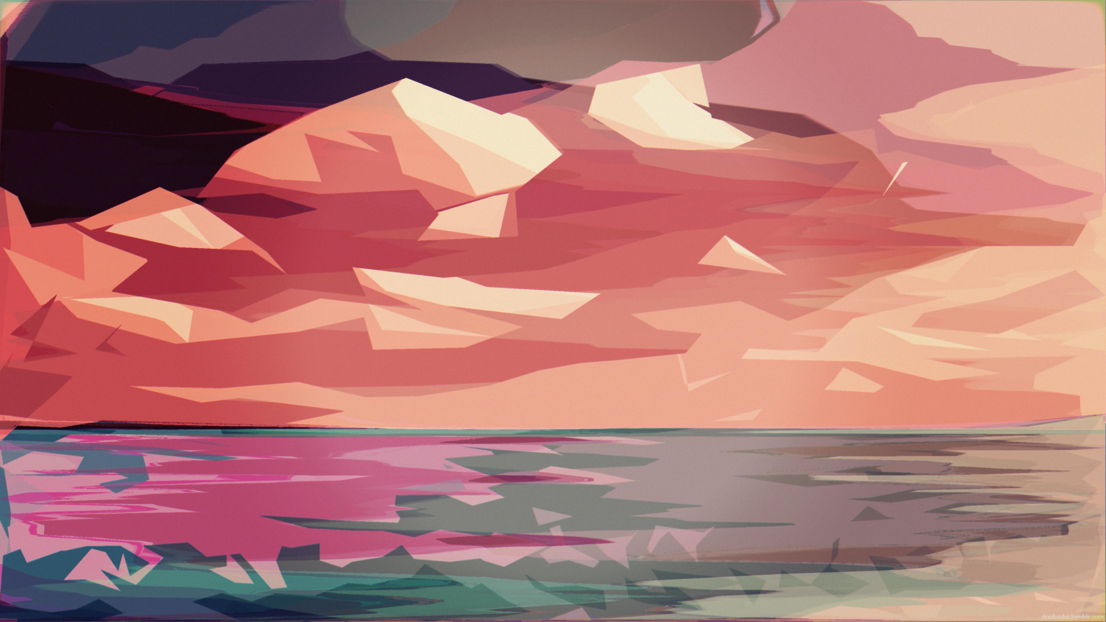 Polygon Art Abstract 4k, HD Abstract, 4k Wallpapers ...