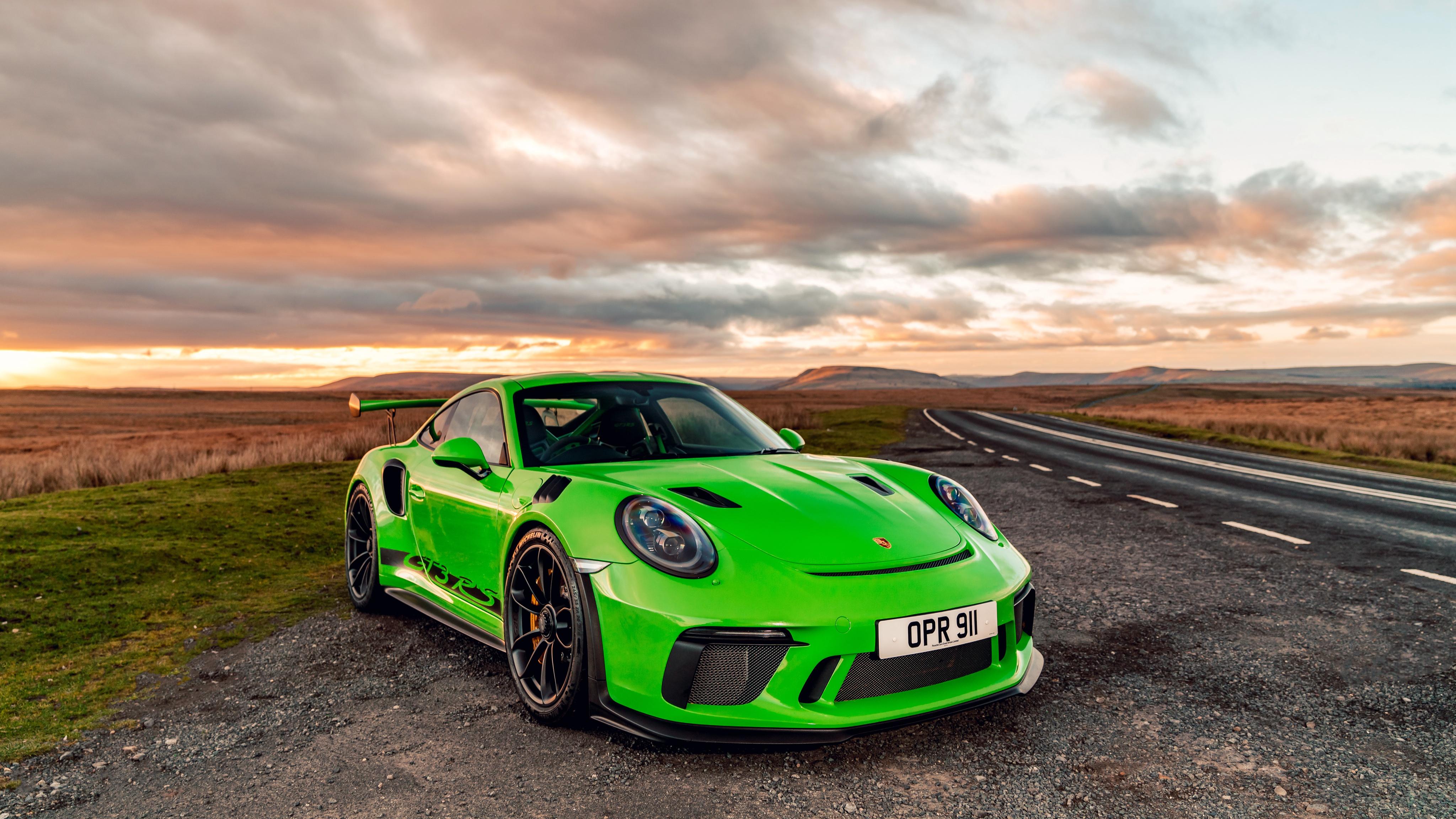 Sport Wallpaper Porsche 911: 1920x1080 Porsche 911 2018 GT3 RS Green Laptop Full HD