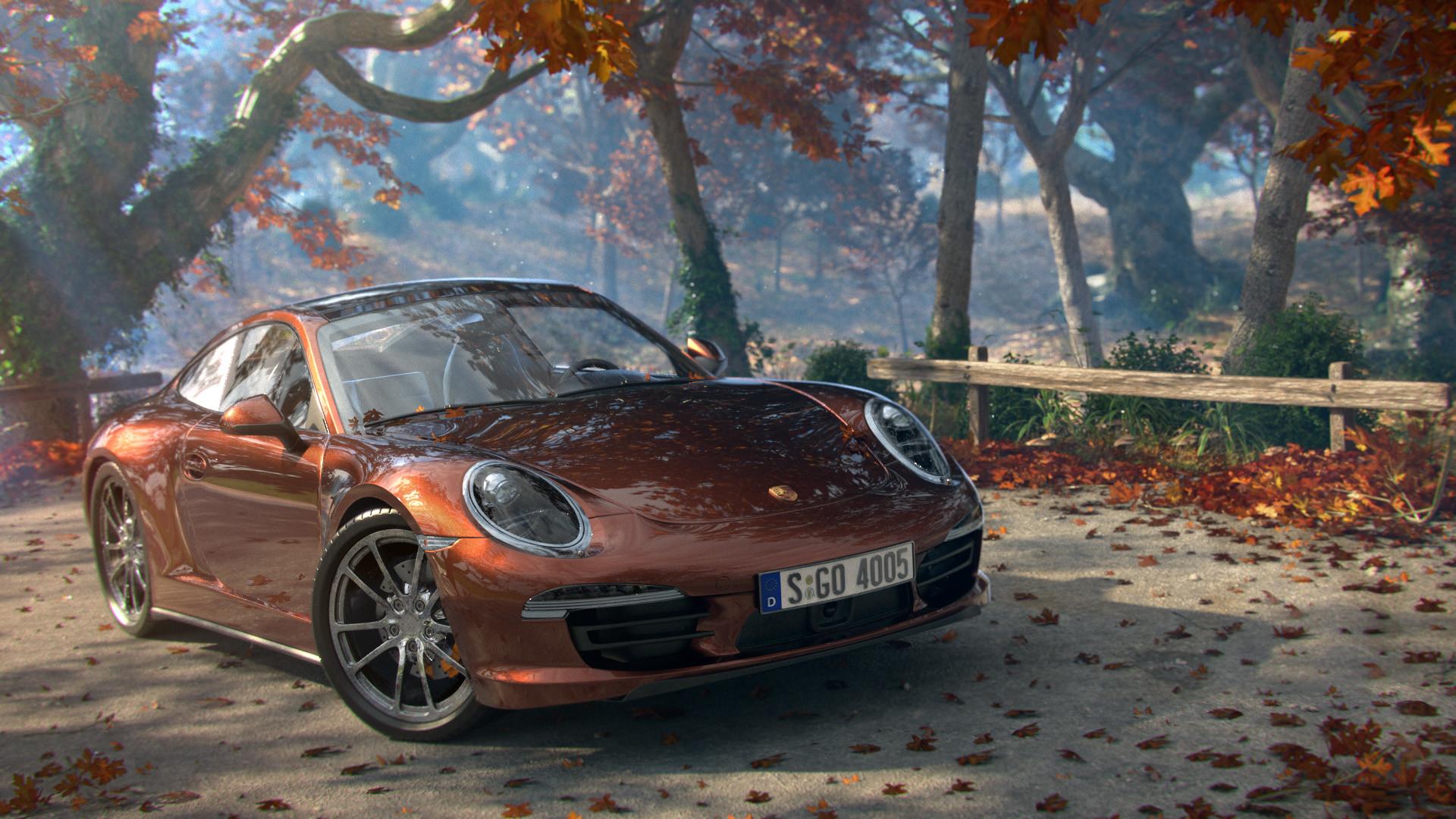 Porsche 911 Carrera дорога на телефон