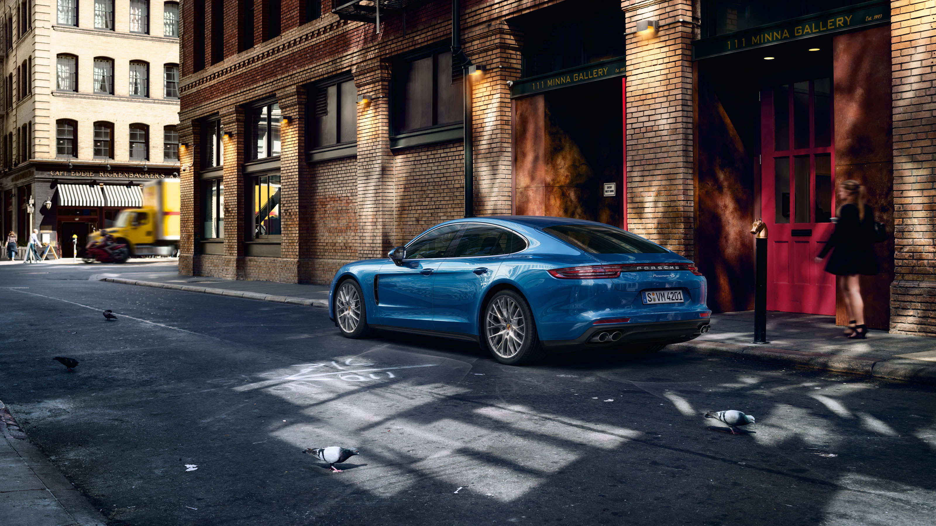 Porsche Panamera Blue Hd Cars 4k Wallpapers Images Backgrounds