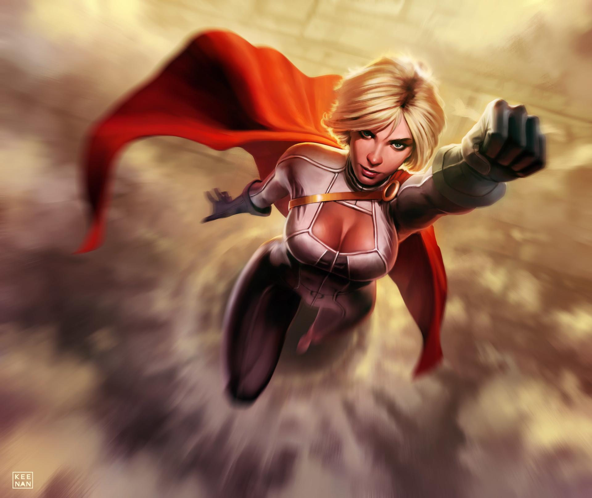 power girl artwork, hd superheroes, 4k wallpapers, images