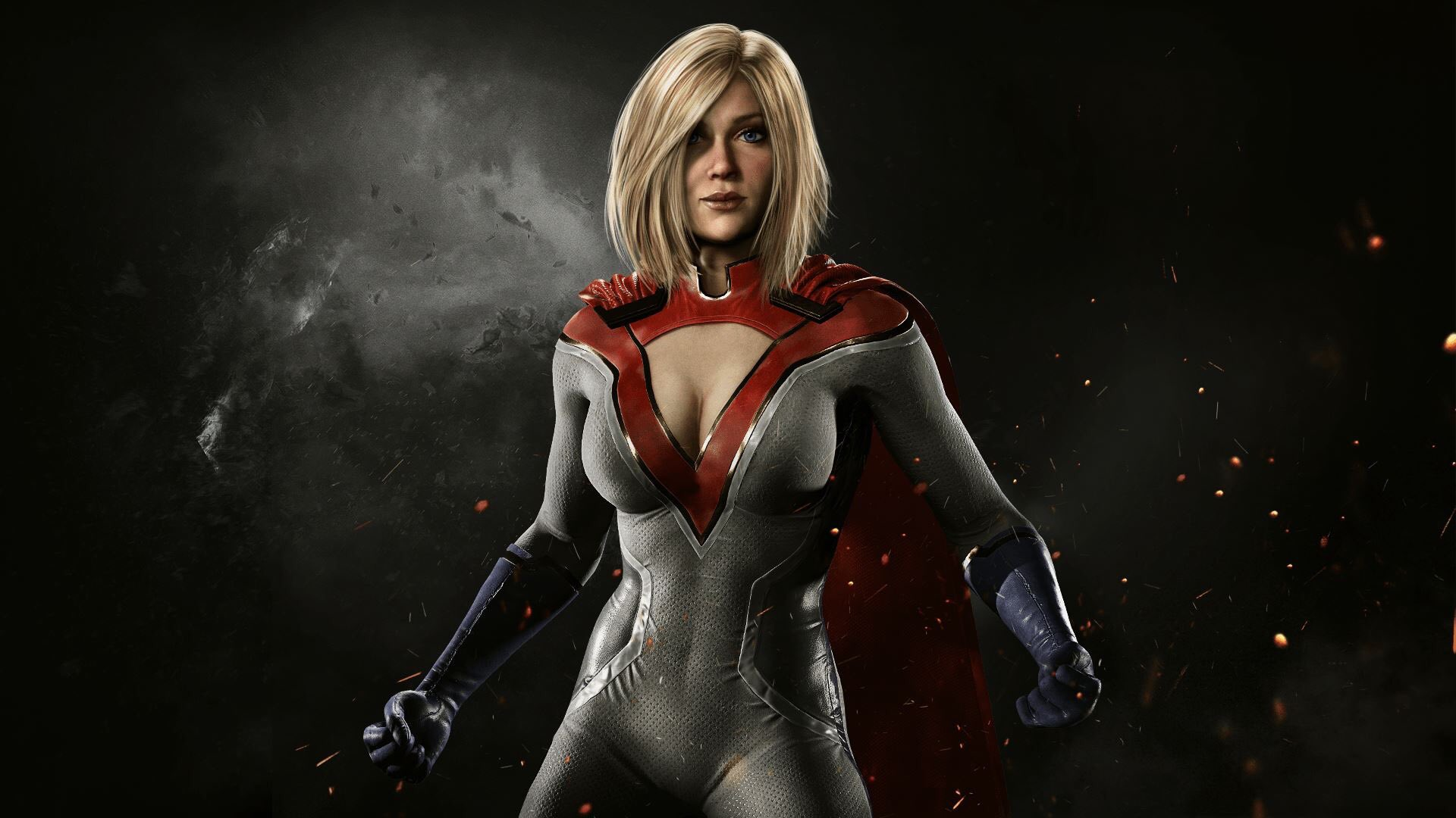 power girl injustice 2, hd games, 4k wallpapers, images, backgrounds