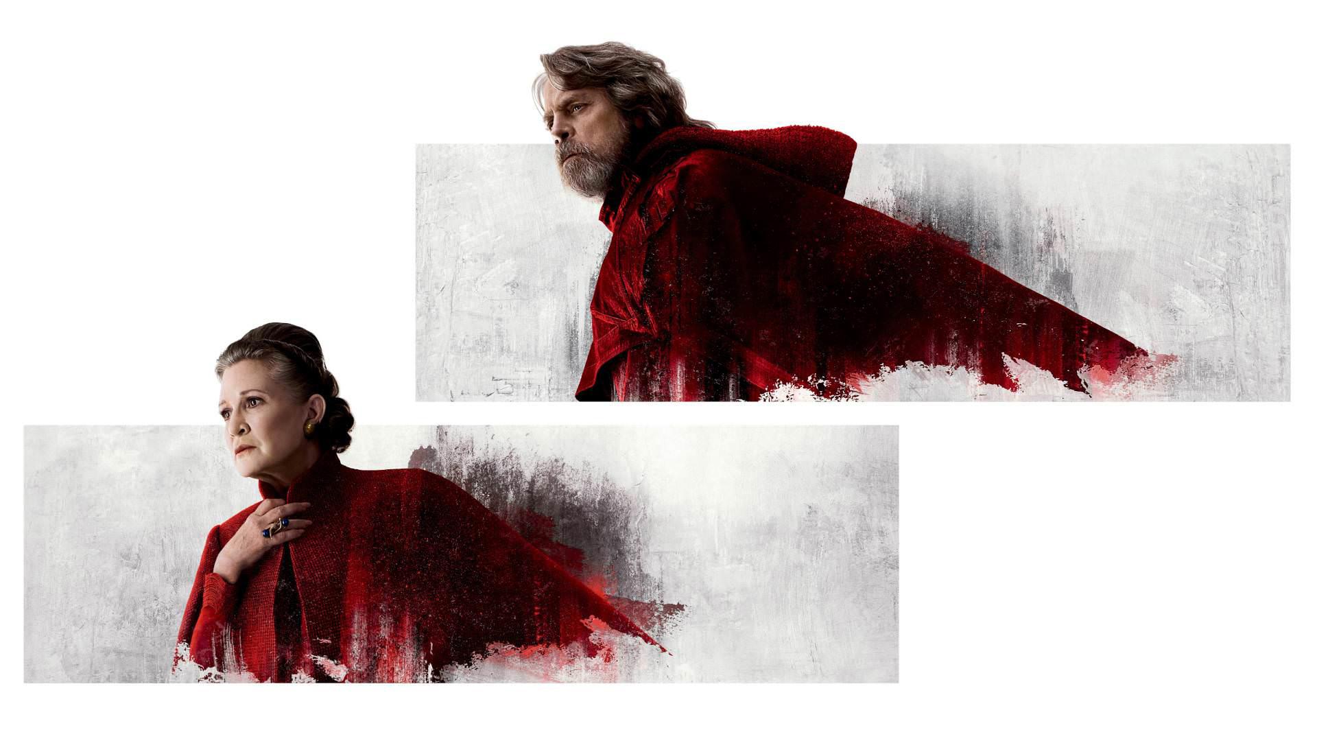 Star Wars The Last Jedi Desktop Wallpaper: Princess Leia And Luke Skywalker In Star Wars The Last