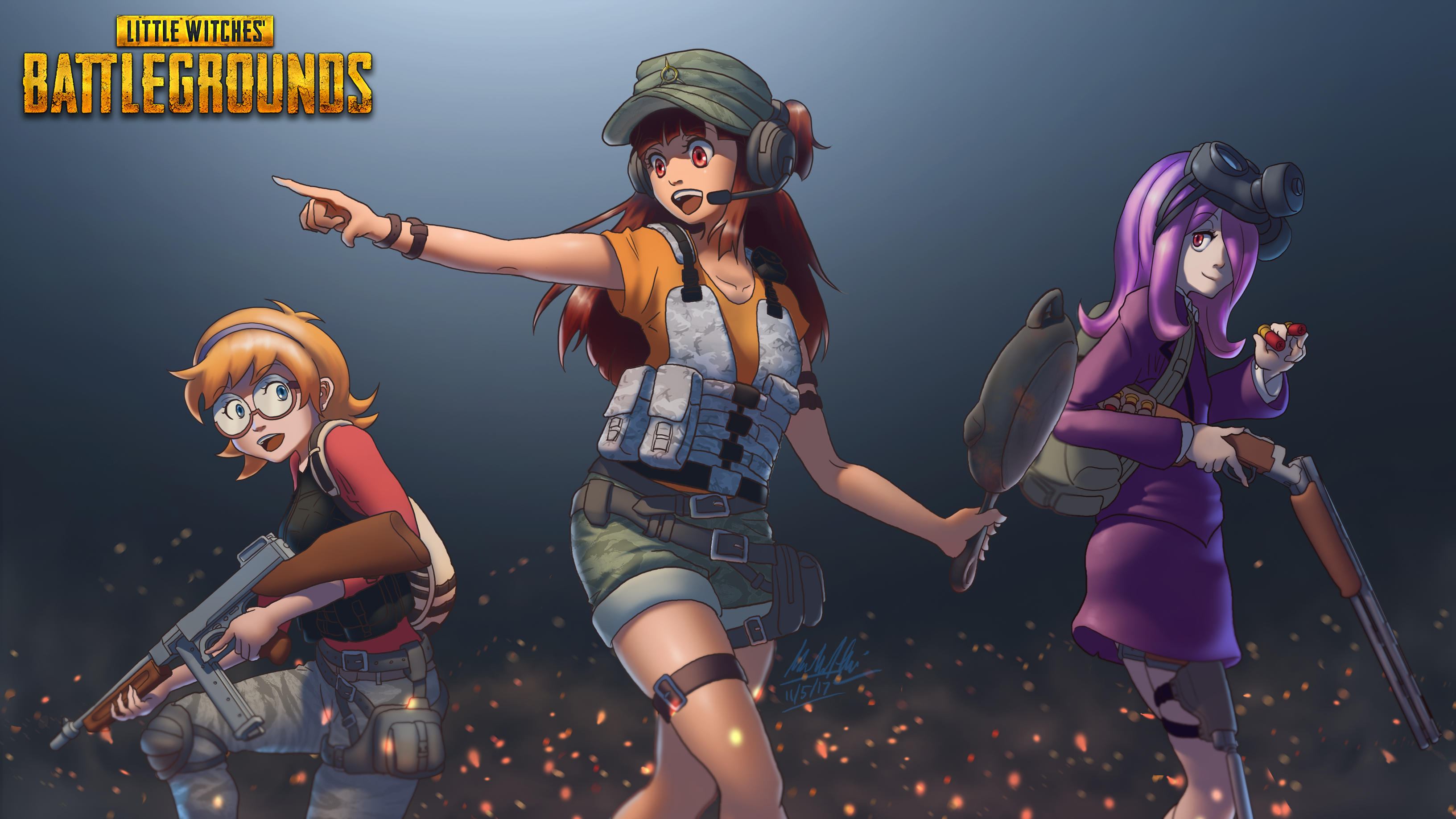 Pubg Artwork Wallpapers: Pubg Anime Crossover Art, HD Games, 4k Wallpapers, Images