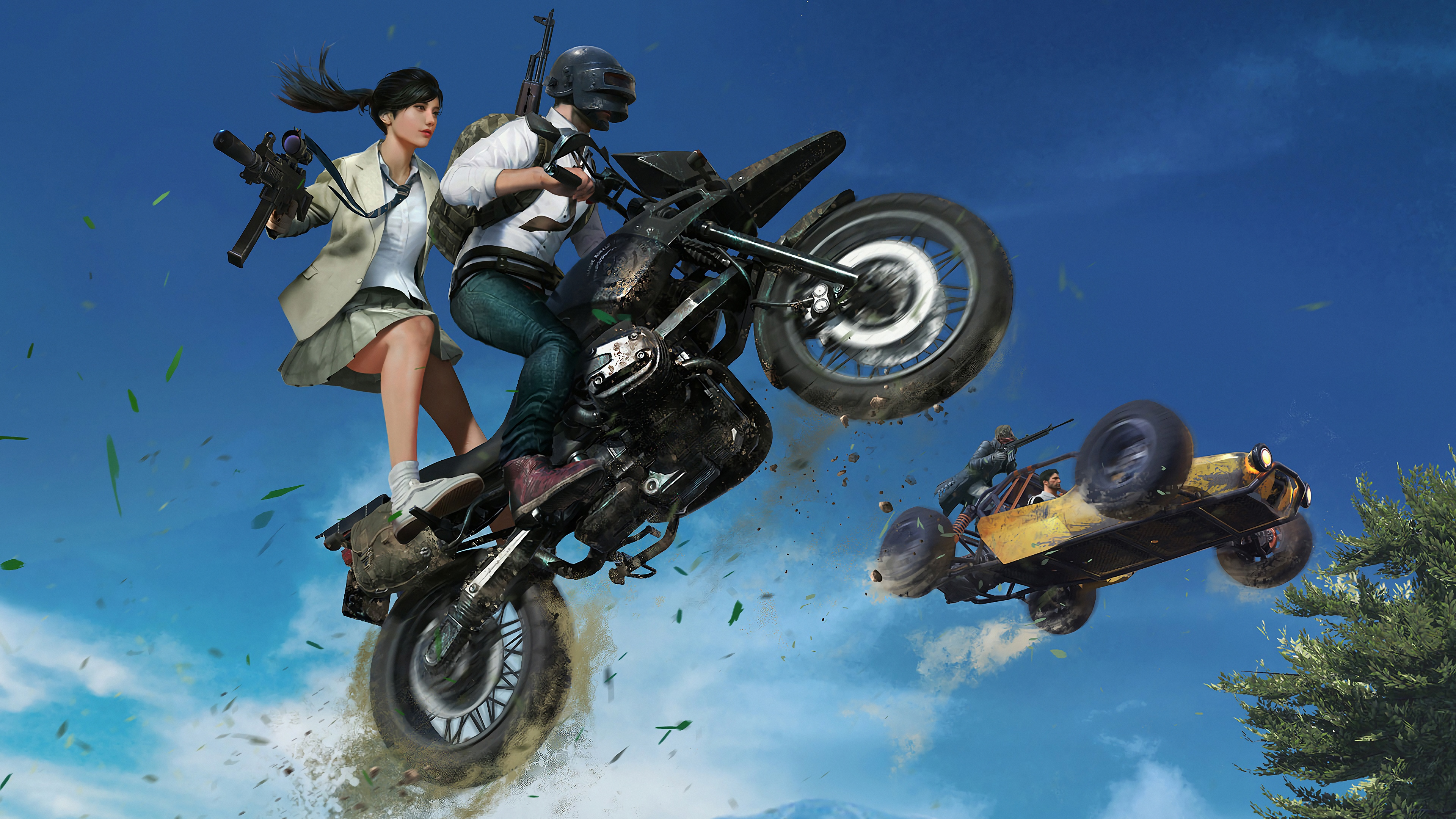 2048x1152 Pubg Bike Rider 4k 2048x1152 Resolution Hd 4k: Pubg Game Chase 4k, HD Games, 4k Wallpapers, Images