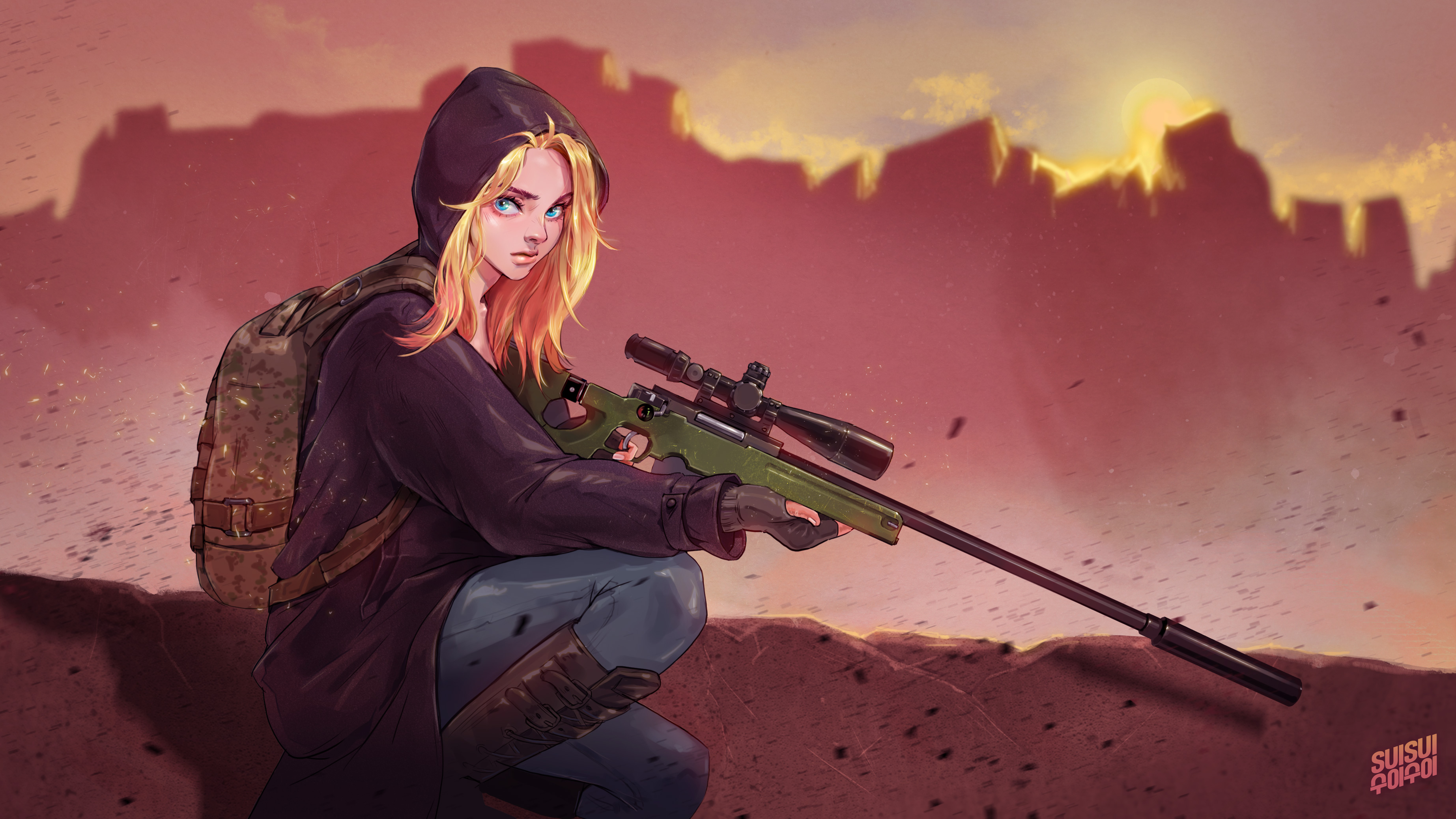 1360x768 Pubg Game Girl Fanart Laptop HD HD 4k Wallpapers