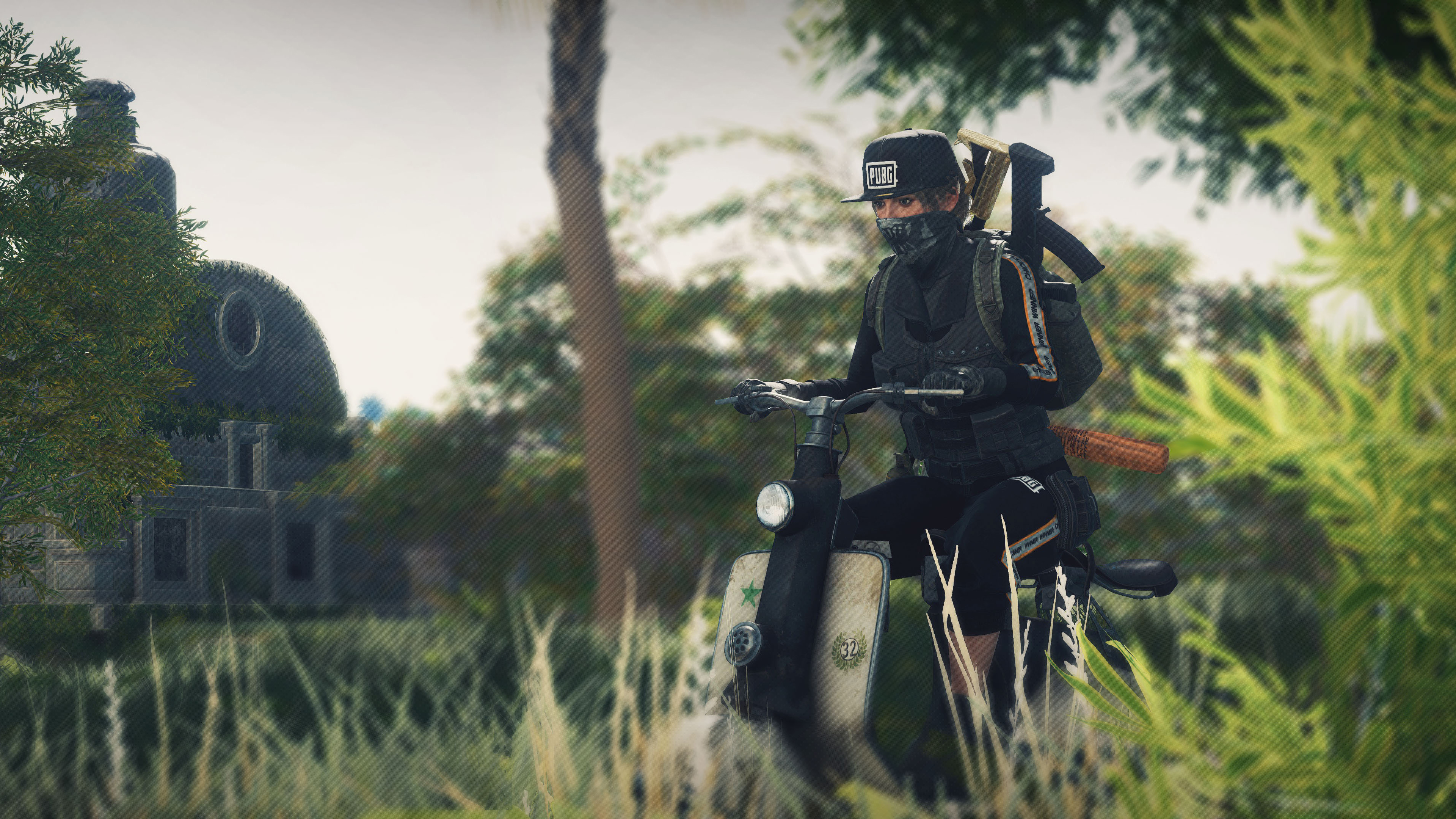 2048x1152 Pubg Bike Rider 4k 2048x1152 Resolution Hd 4k: Pubg Girl On Scooter, HD Games, 4k Wallpapers, Images