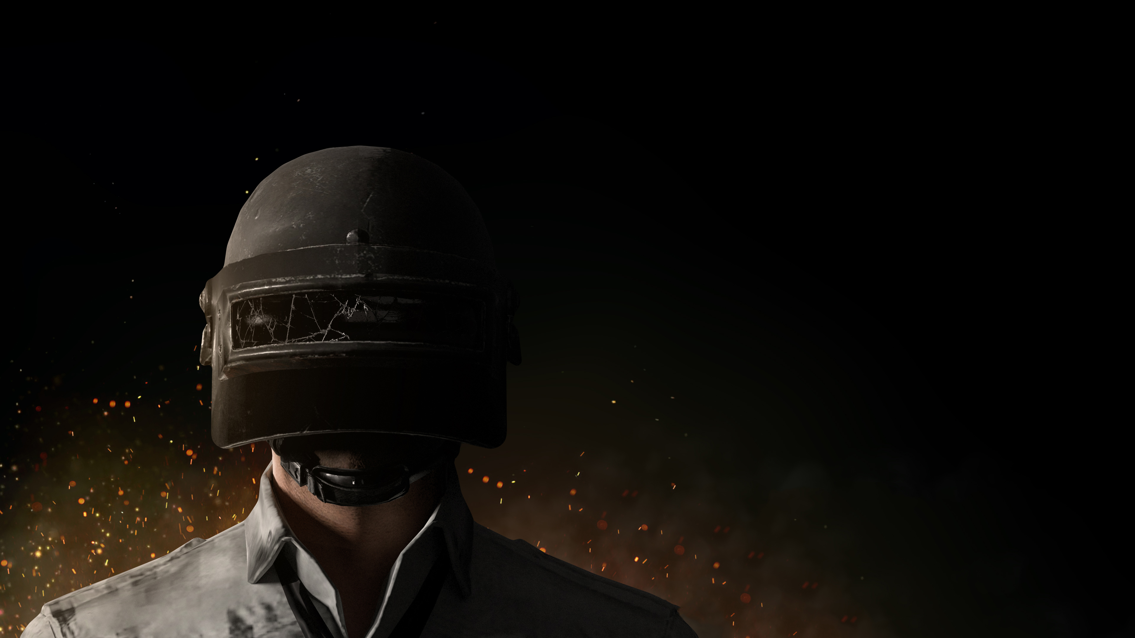 Pubg Minimalist Pophead Full Hd Wallpaper: PUBG Helmet Guy 4k, HD Games, 4k Wallpapers, Images
