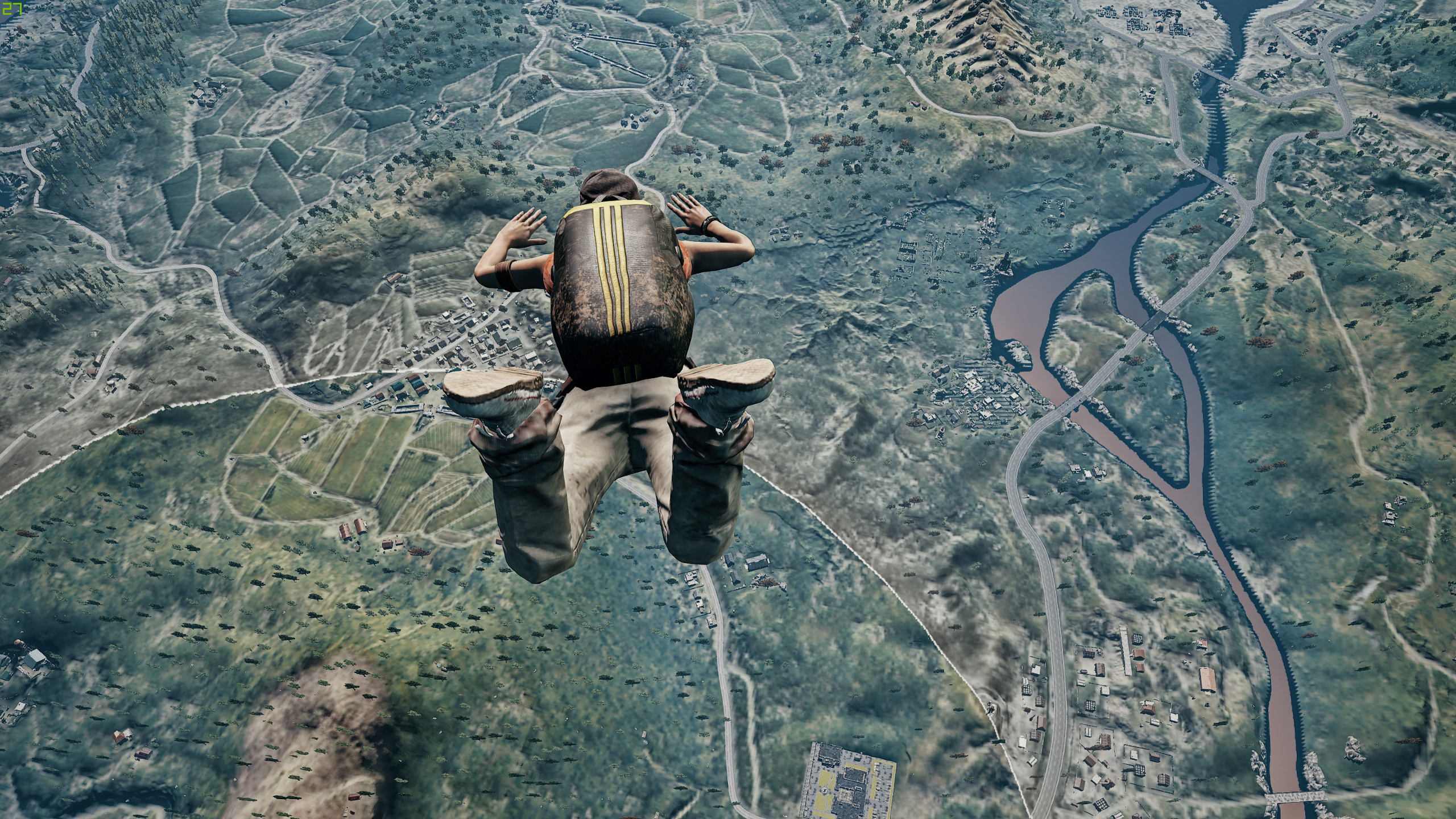 1920x1080 Pubg Characters 4k Laptop Full Hd 1080p Hd 4k: 1920x1080 Pubg Jump From Plane 4k Laptop Full HD 1080P HD