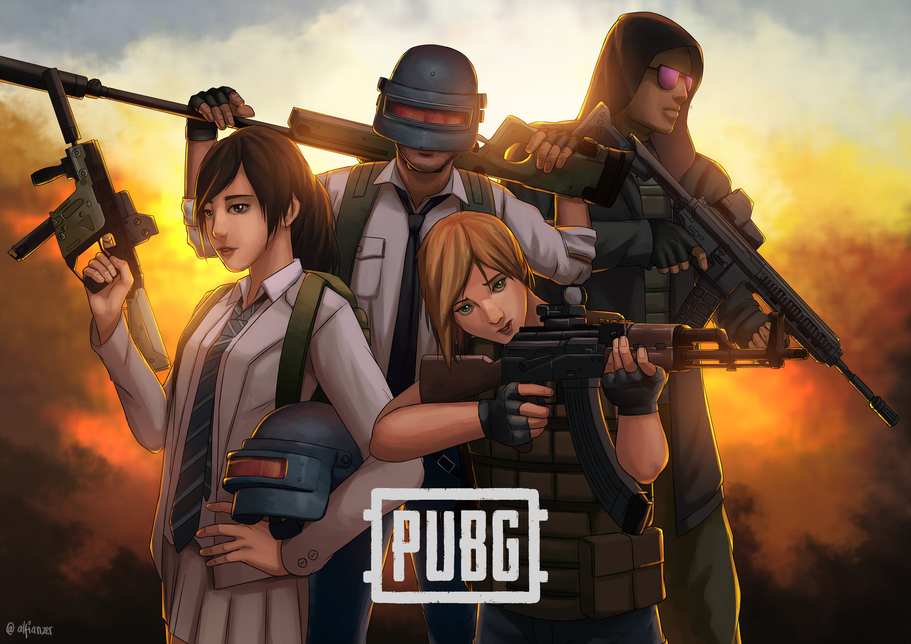 Pubg Squad Wallpaper 4k: 1920x1080 Pubg Squad Art Laptop Full HD 1080P HD 4k