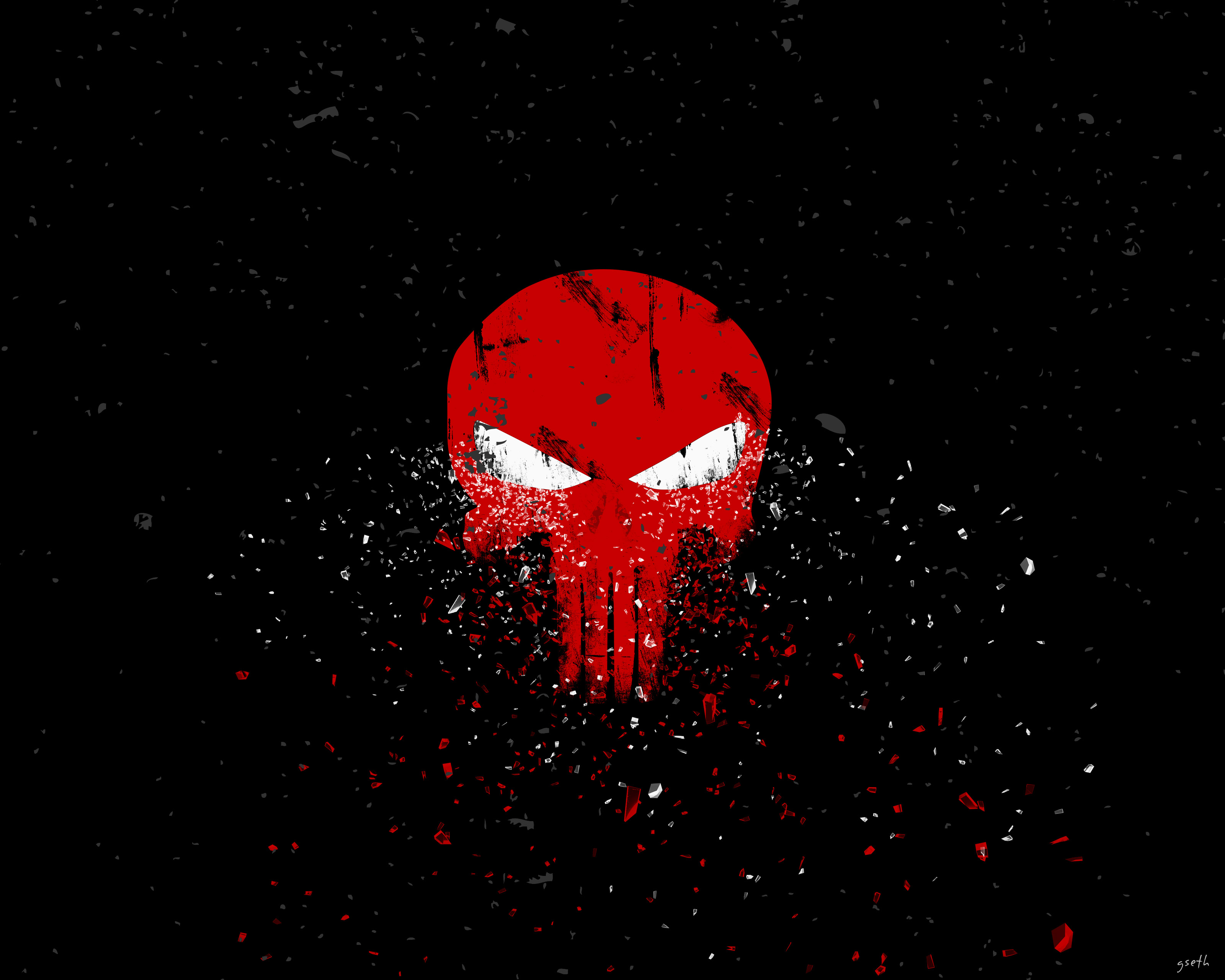 Punisher logo 4k hd artist 4k wallpapers images - Skull 4k images ...