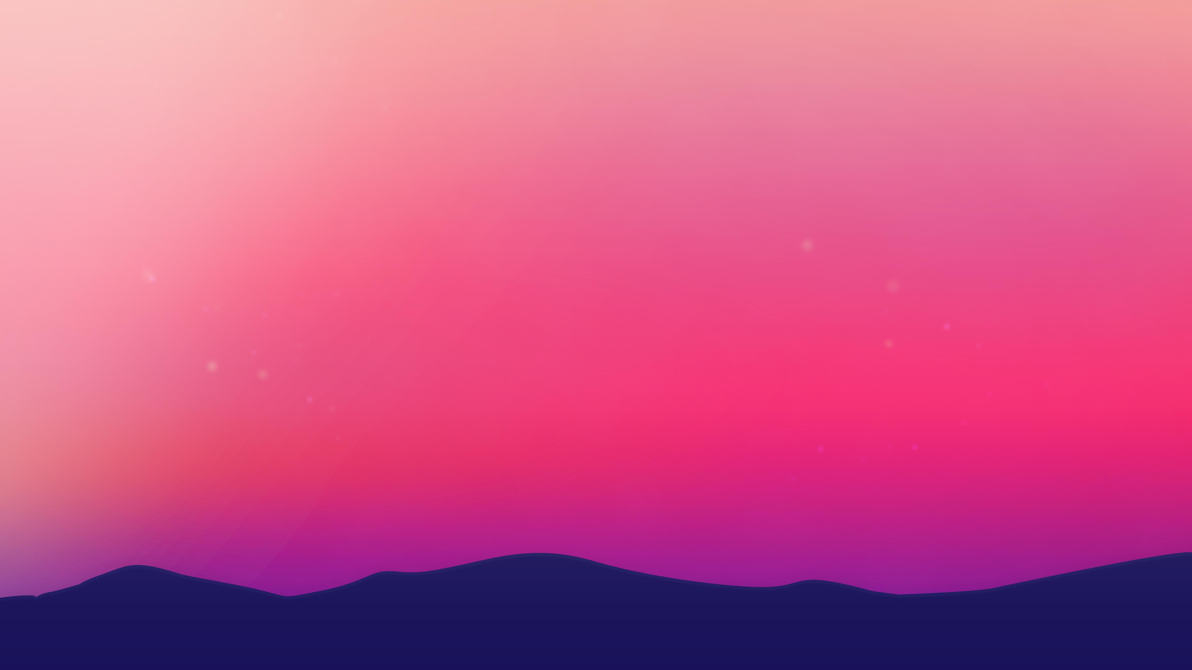 Purple Landscape Scenery Minimalist 4k, HD Artist, 4k ...