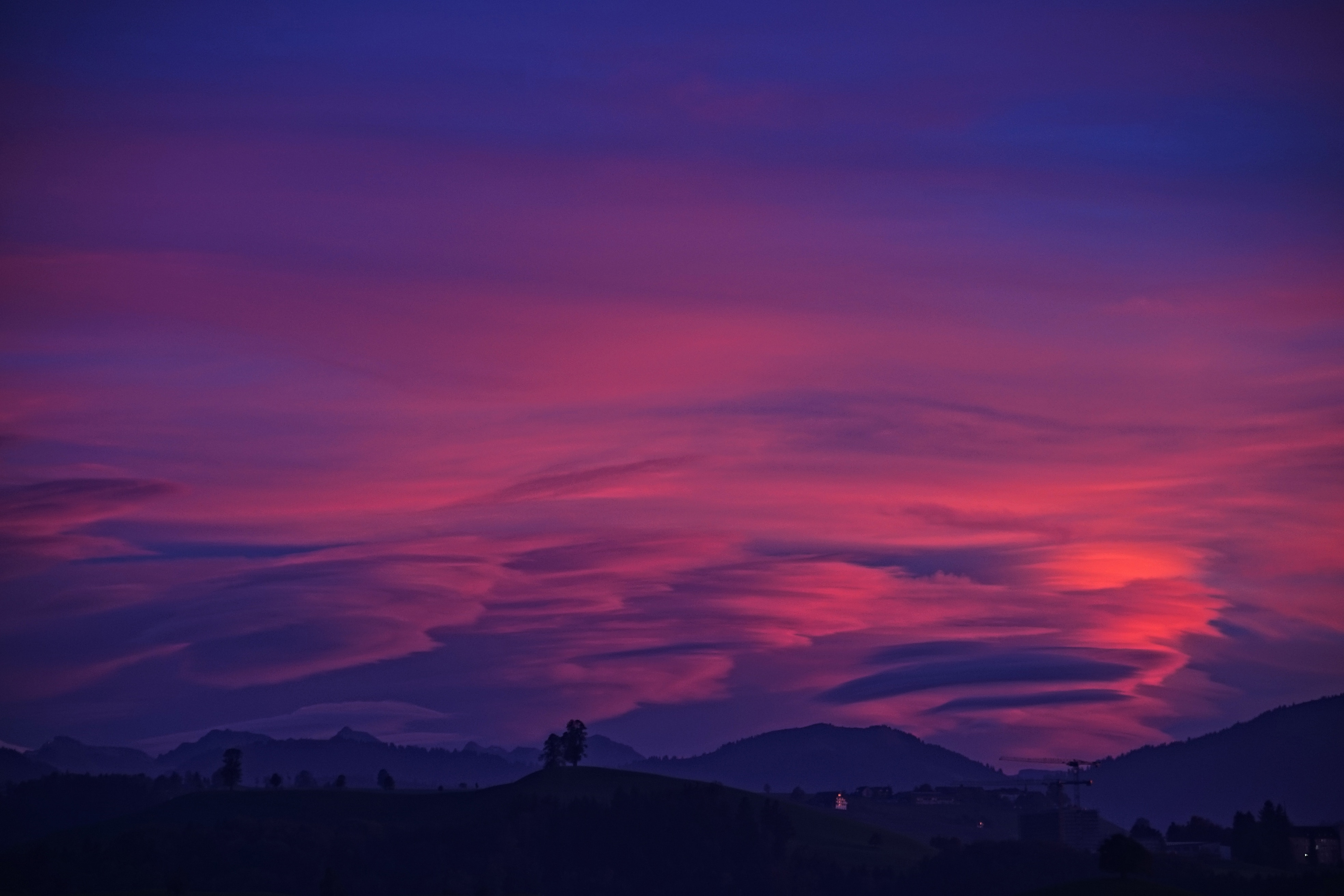 Purple Sky Clouds Mountains 4k Hd Nature 4k Wallpapers