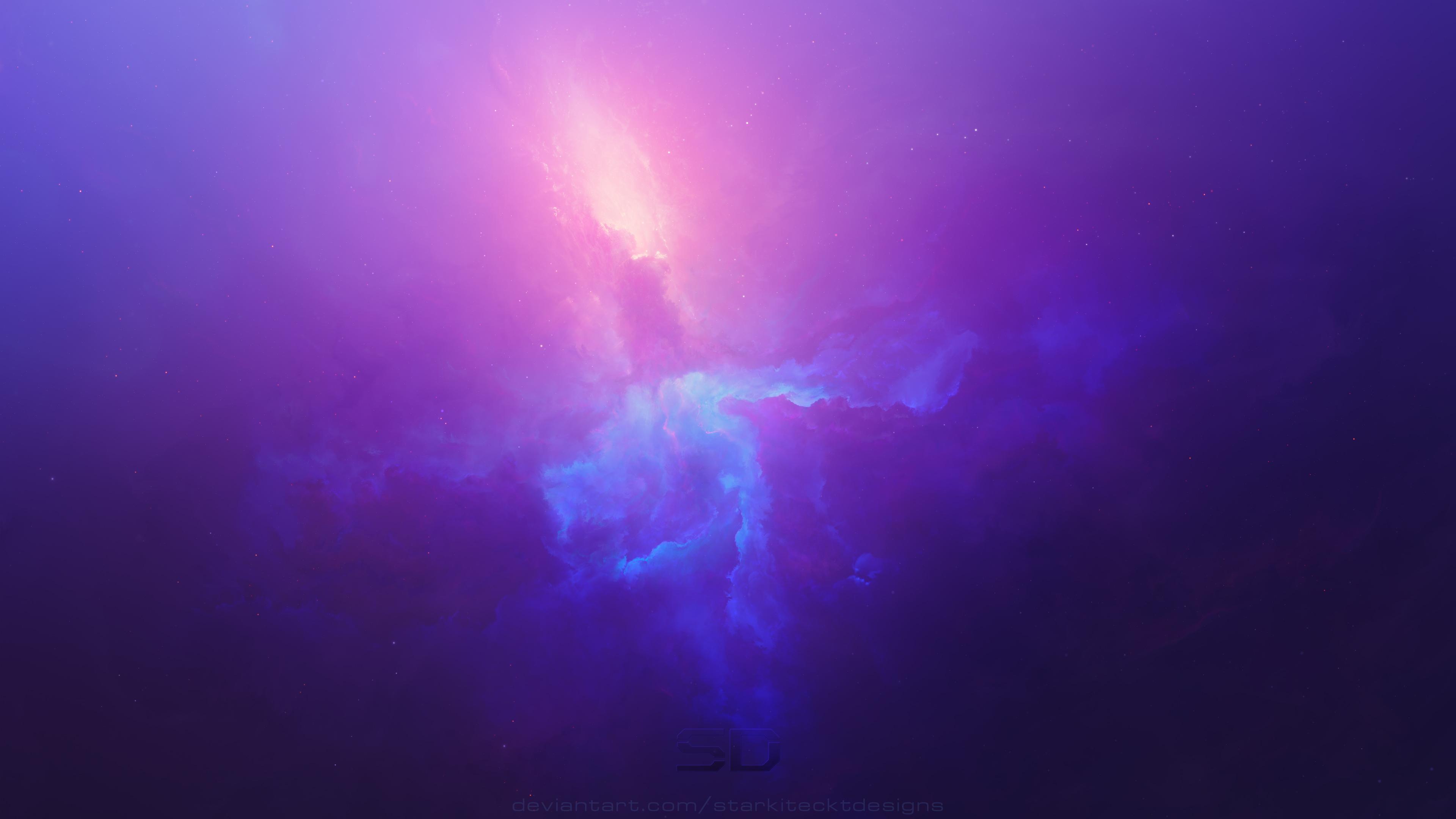Purple Space Cosmos Abstract 4k Hd Digital Universe 4k