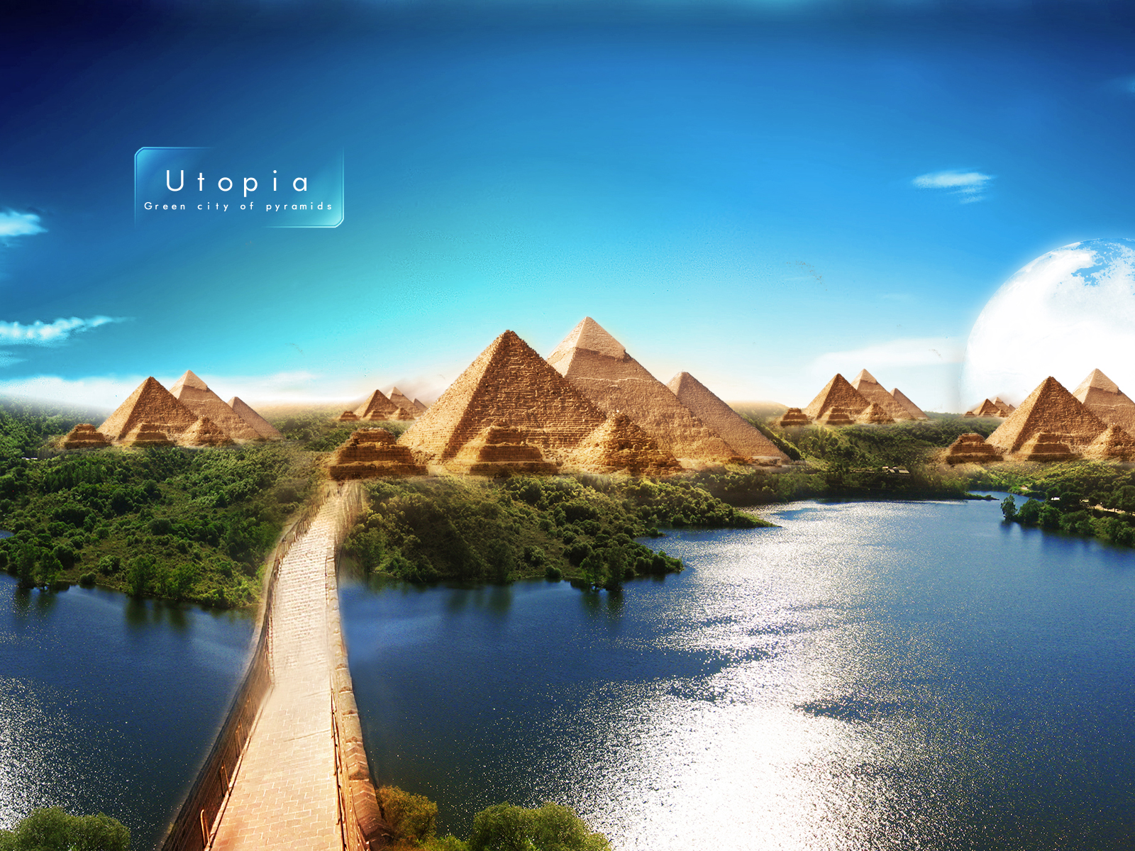 pyramids of utpoia beautiful scenery, hd world, 4k wallpapers