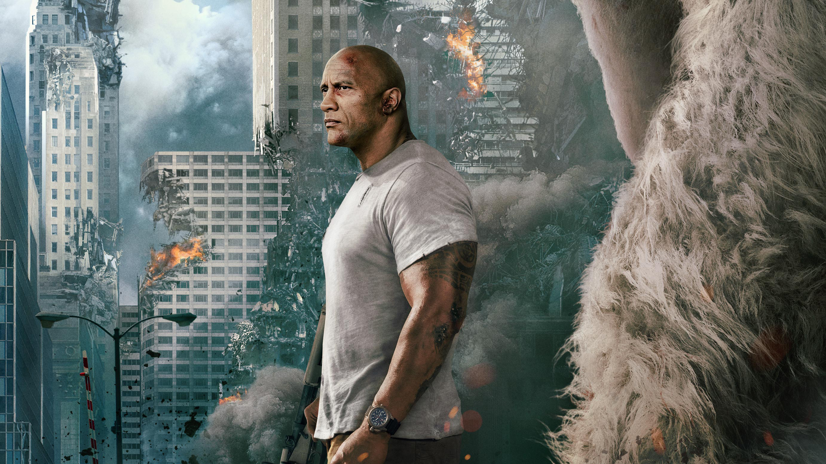 Rampage Movie Hd Wallpapers Download 1080p: Rampage Dwayne Johnson Movie, HD Movies, 4k Wallpapers
