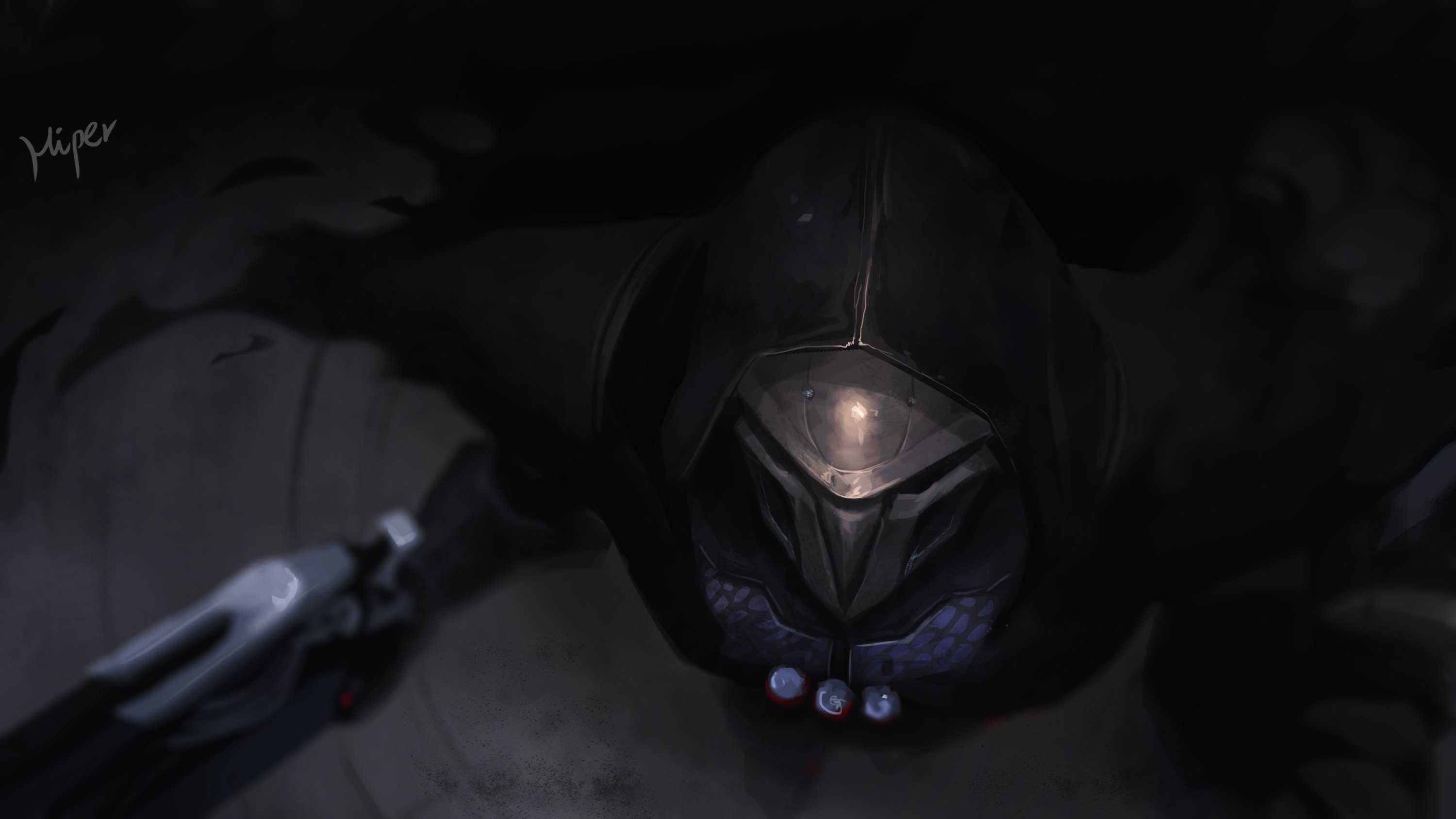 reaper in overwatch hd games 4k wallpapers images
