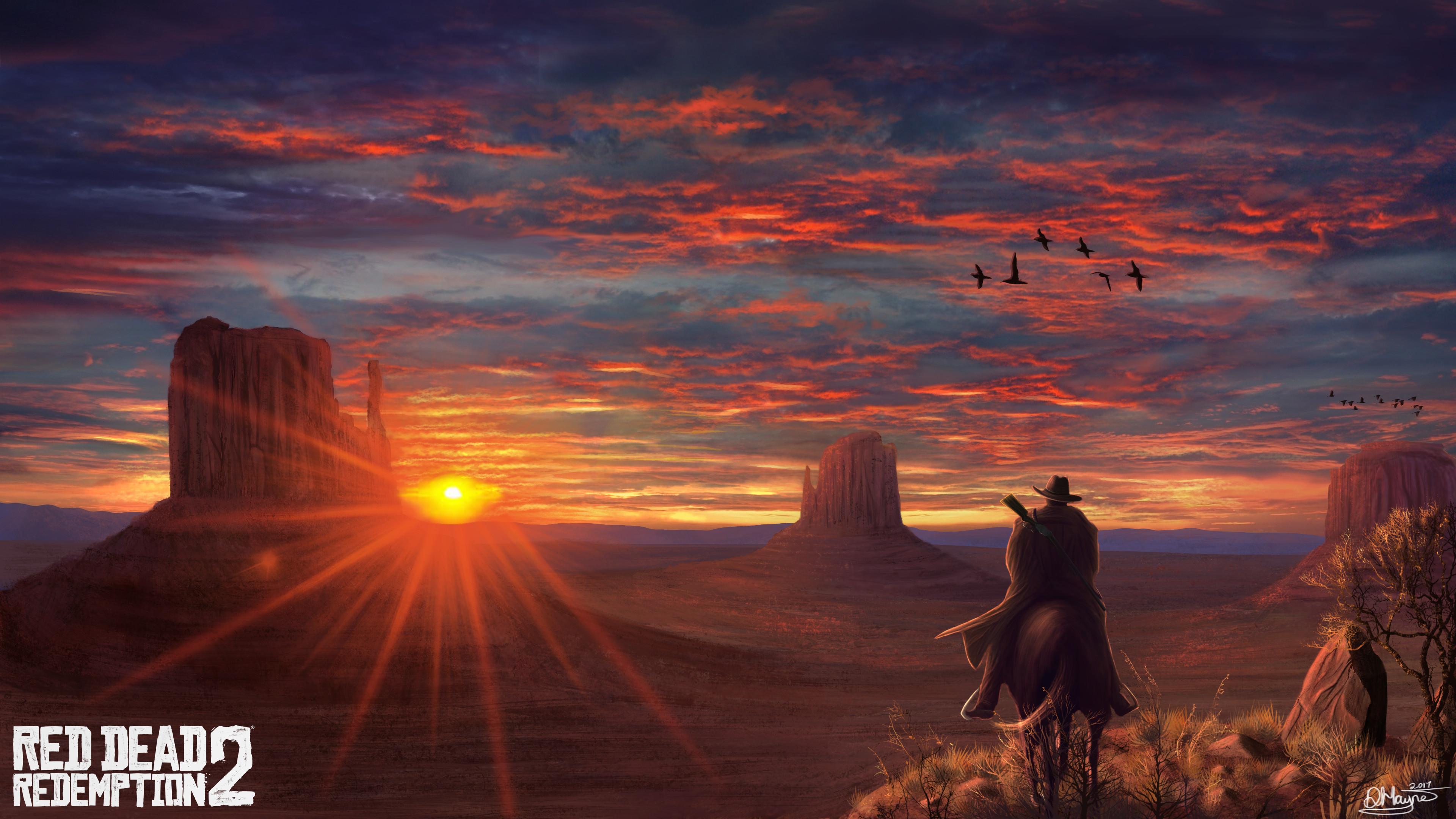 4k Wallpaper Fanart Pubattlegrounds: Red Dead Redemption 2 FanArt 4k, HD Games, 4k Wallpapers
