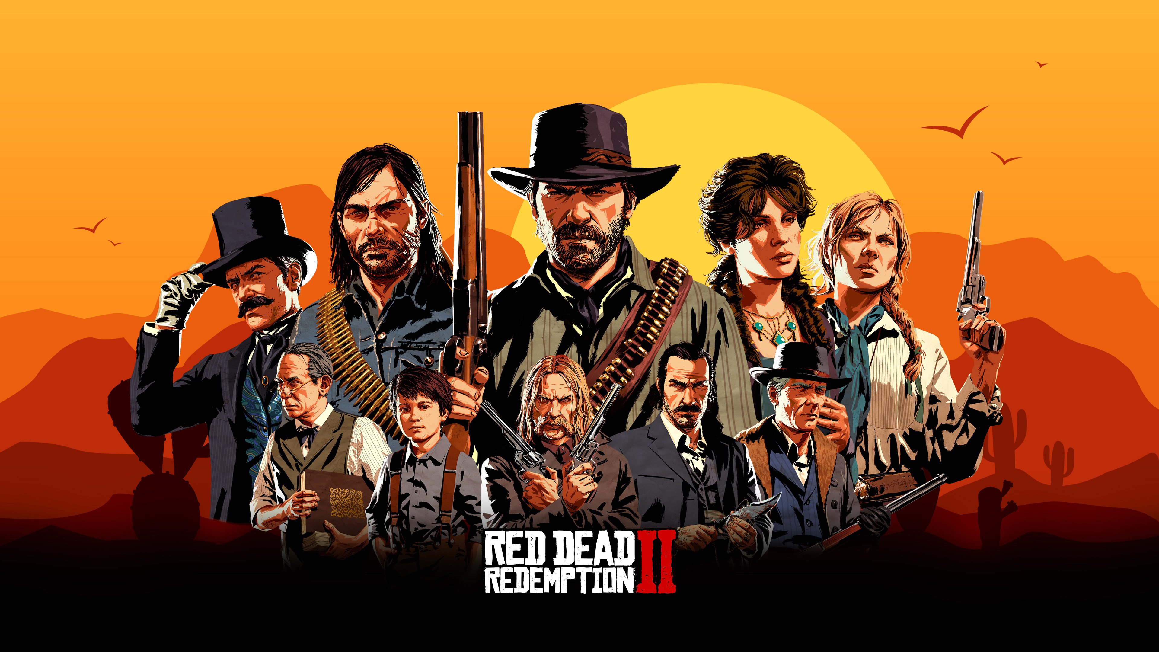 Red Dead Redemption 2 4k Wallpaper: Red Dead Redemption 2 Game Characters, HD Games, 4k
