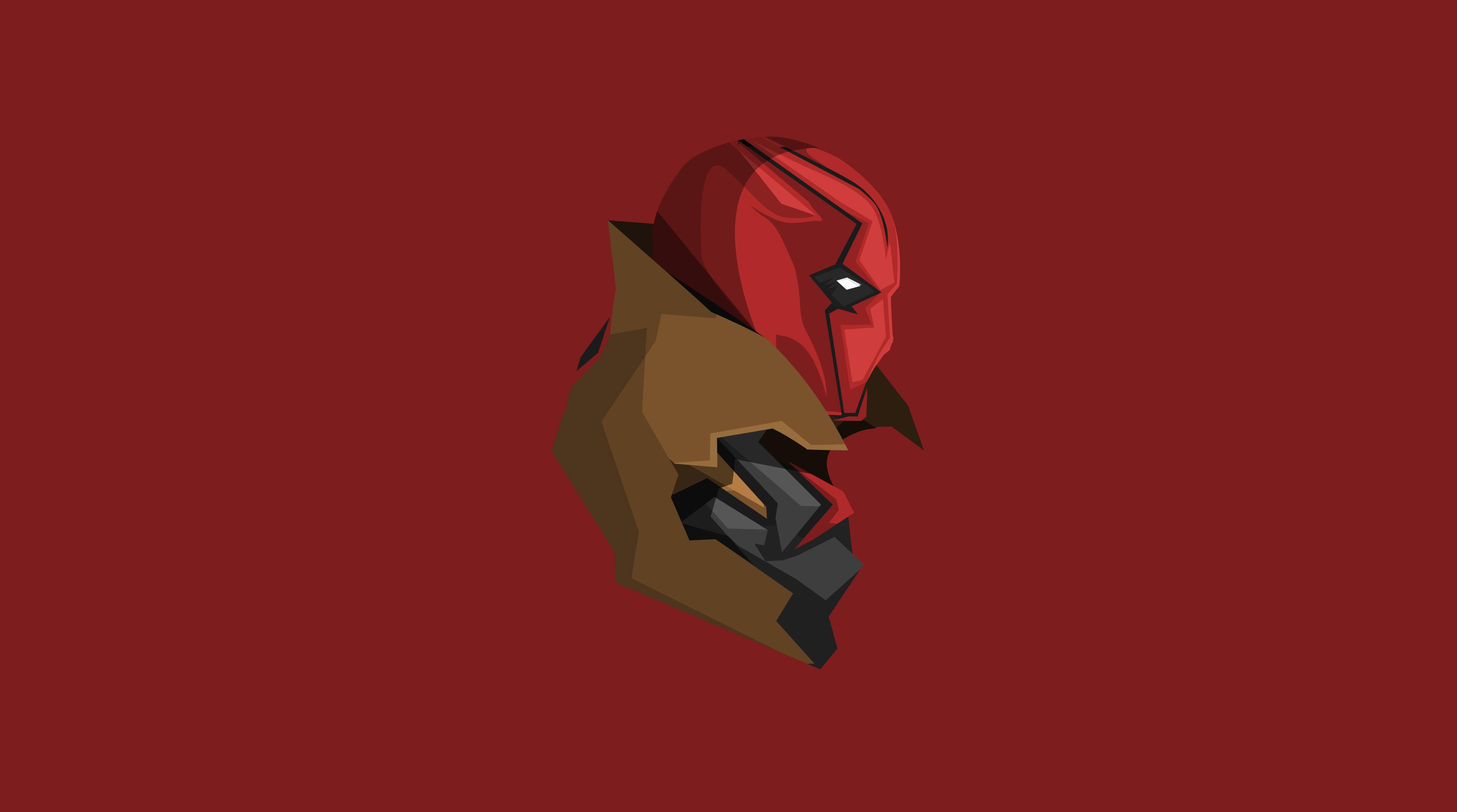 Red Hood Minimalism 4k, HD Superheroes, 4k Wallpapers ...