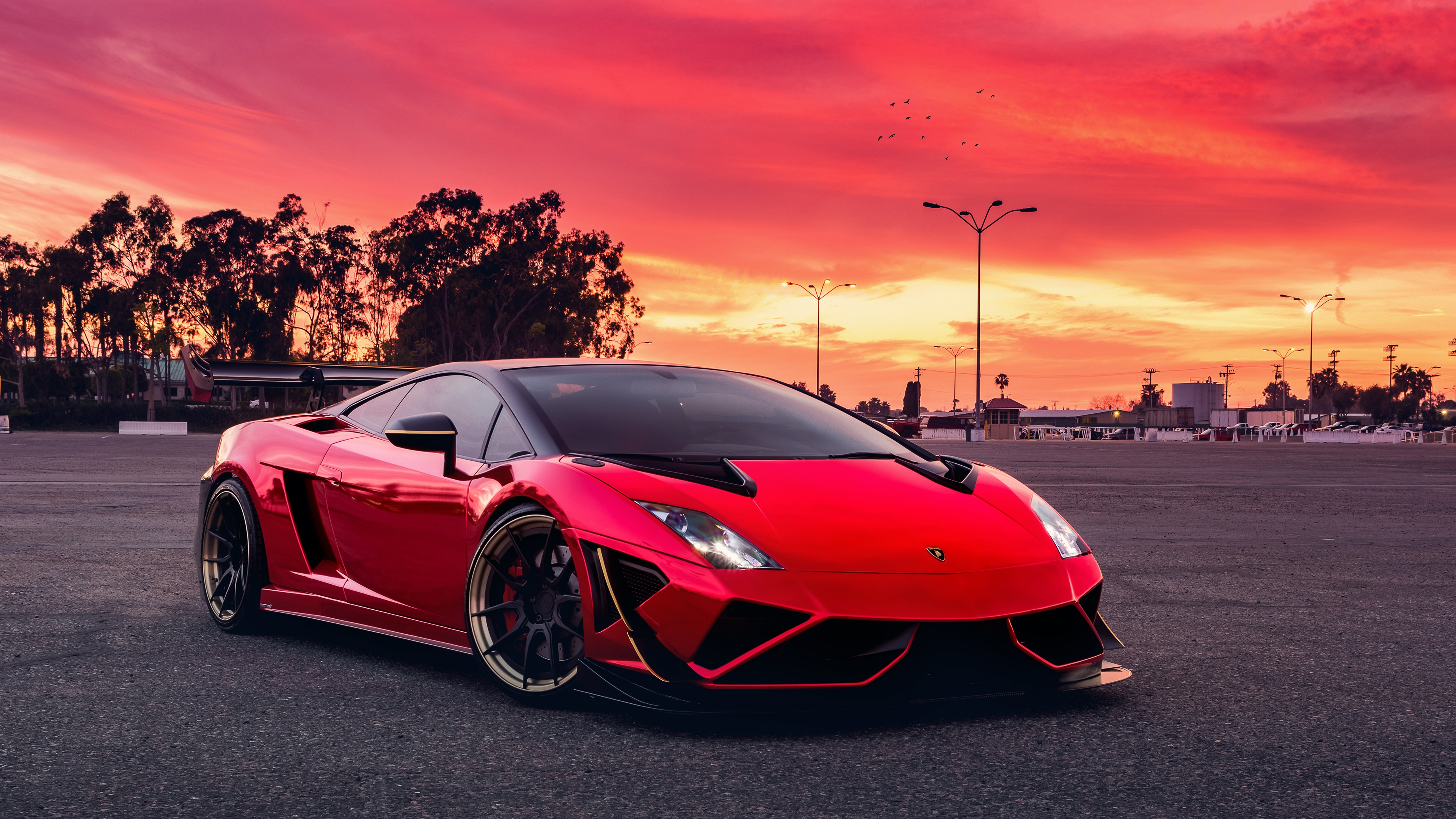 Red Lamborghini Gallardo, HD Cars, 4k Wallpapers, Images