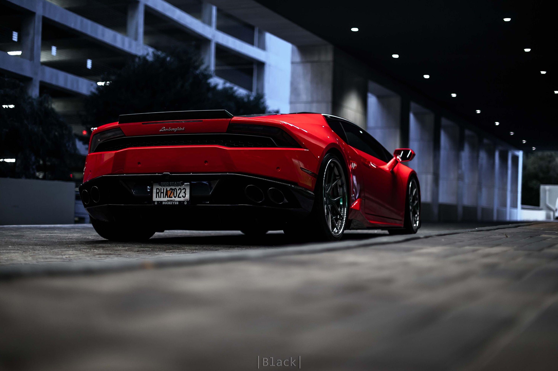 Red Lamborghini Huracan Rear, HD Cars, 4k Wallpapers ...