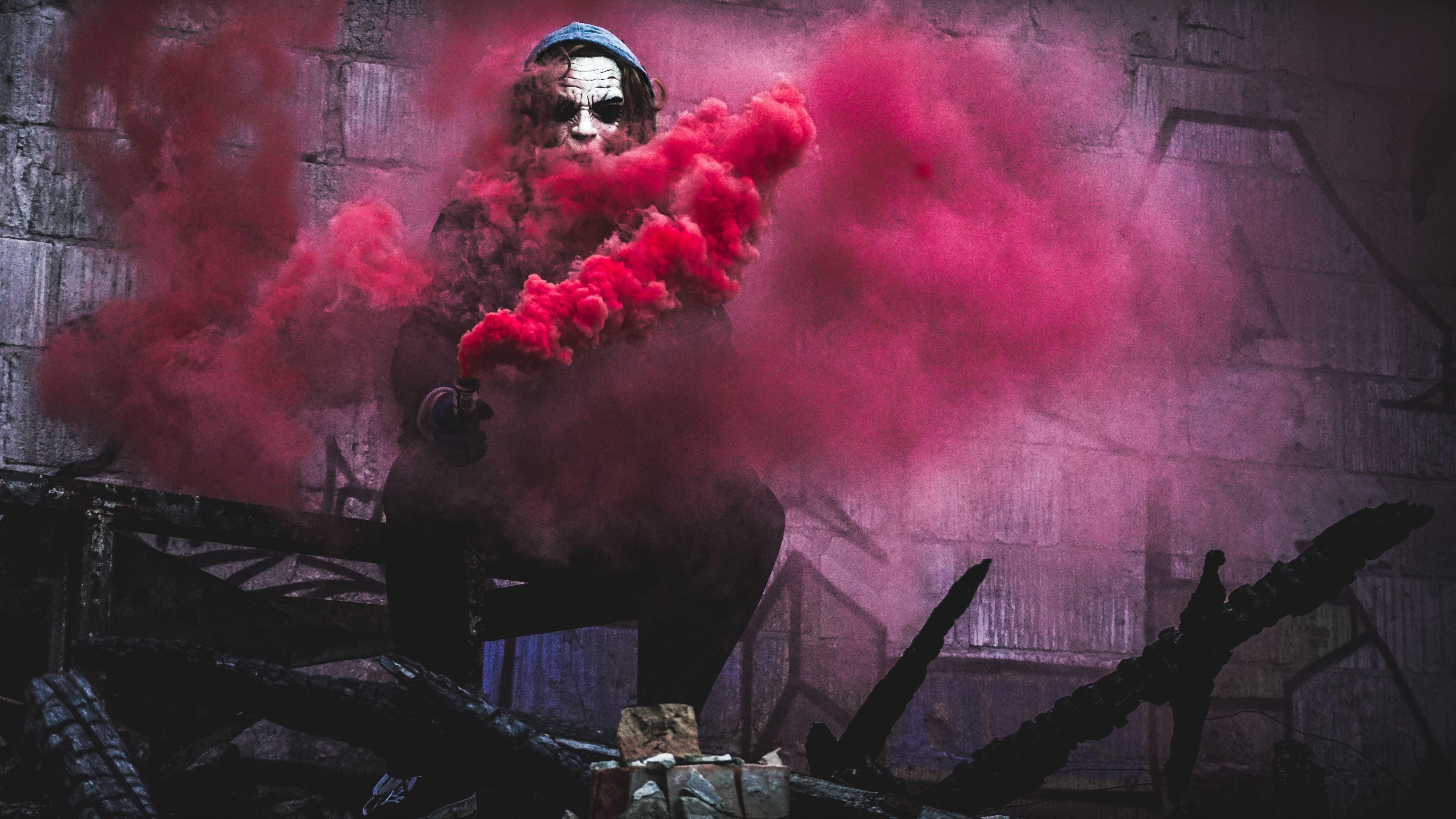 Red Smoke By Joker Hd Superheroes 4k Wallpapers Images