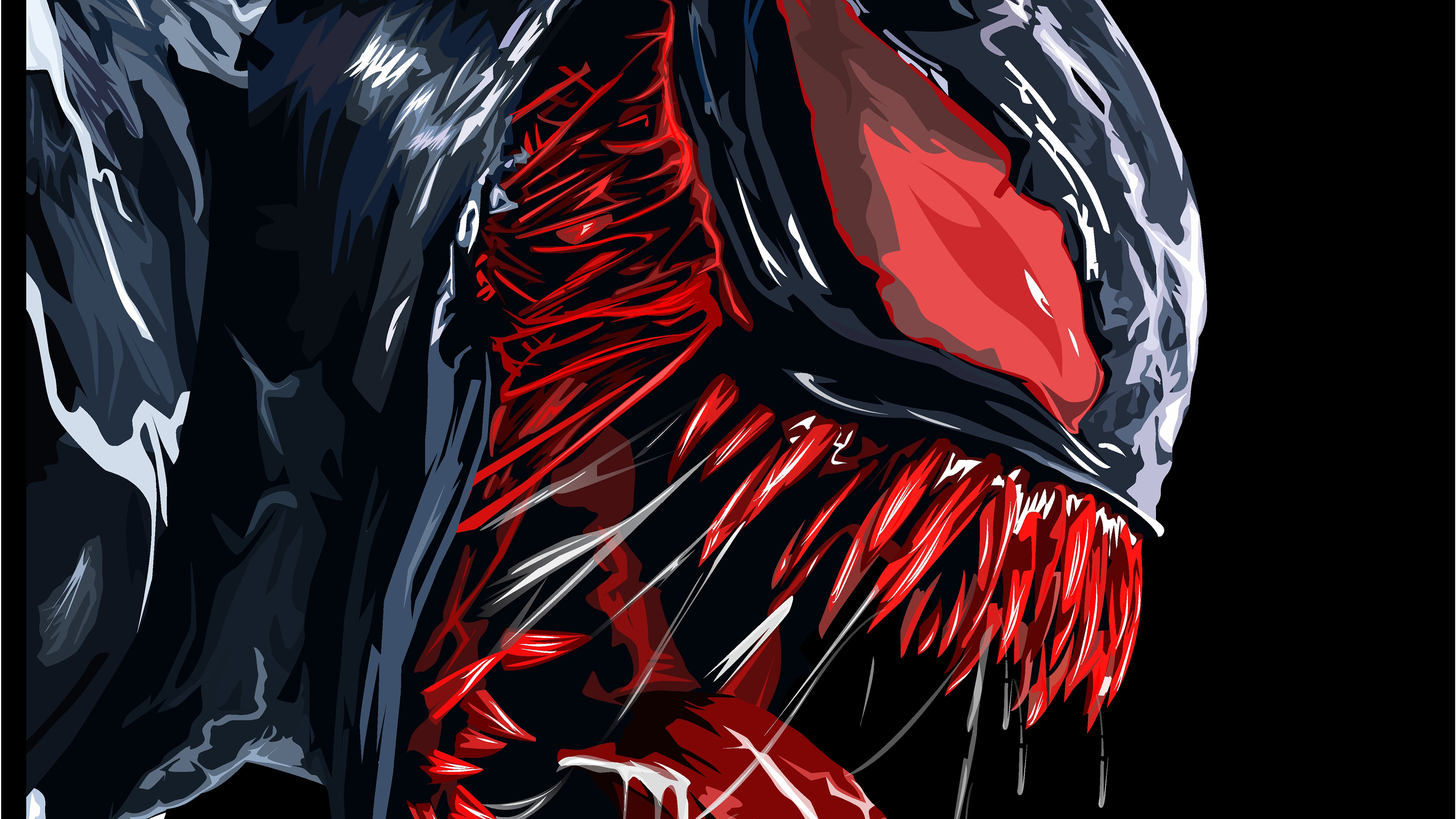 Red venom artwork 4k hd superheroes 4k wallpapers - Venom hd wallpaper android ...