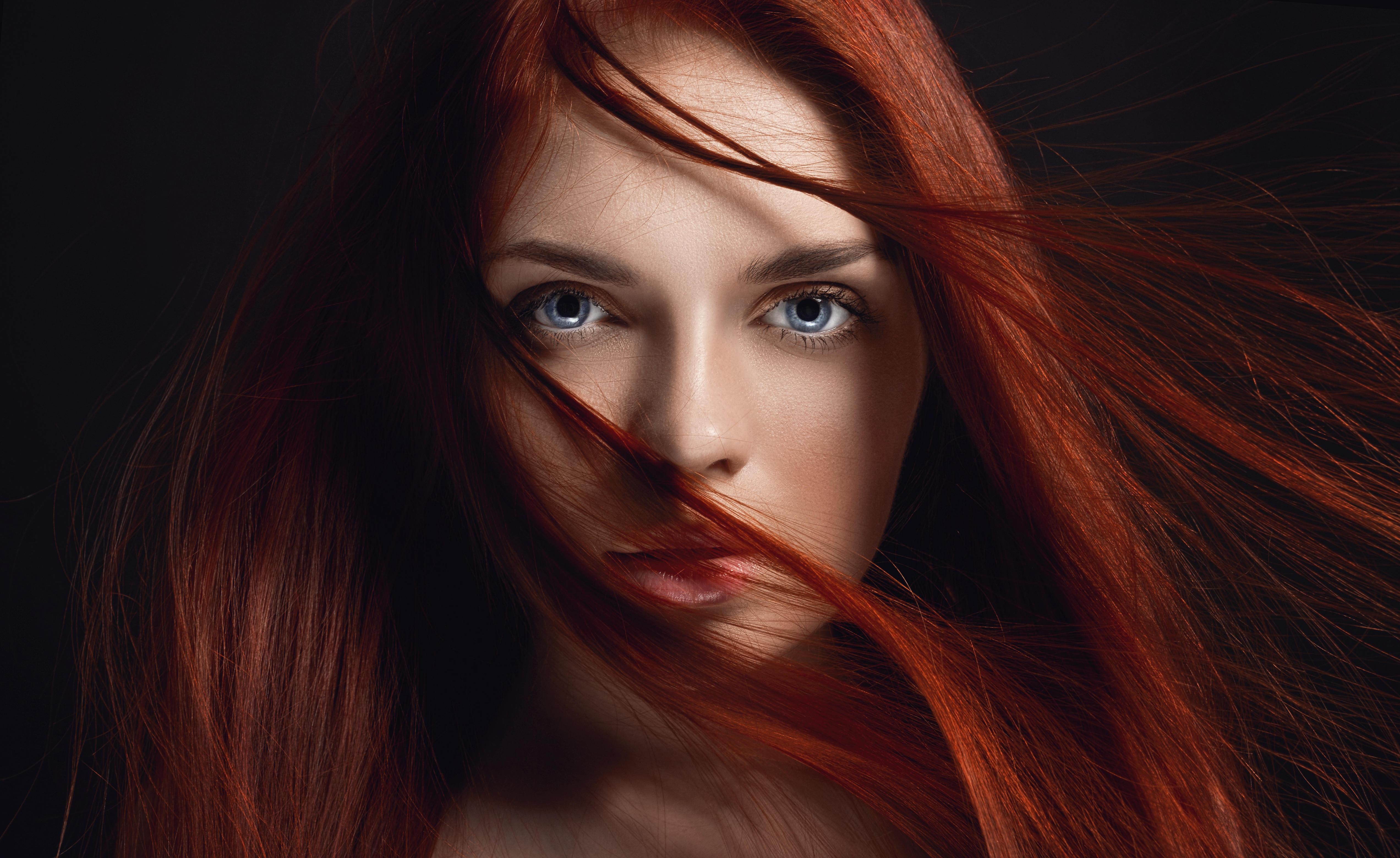 Redhead Girl Hairs On Face 4k 5k Hd