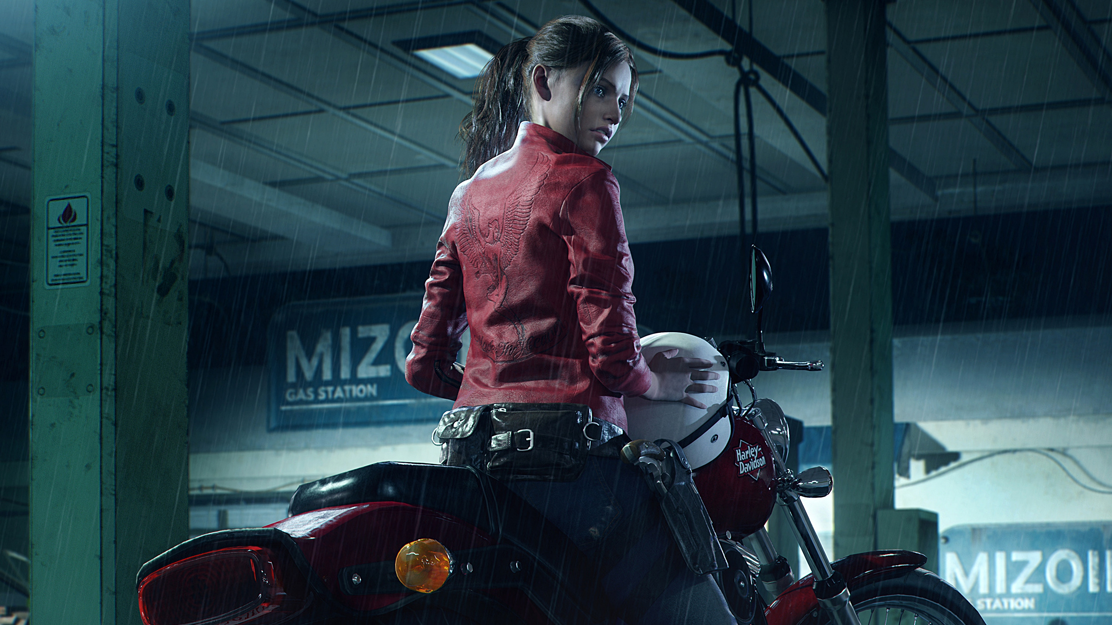 2048x1152 Resident Evil 2 2019 Claire Redfield Harley