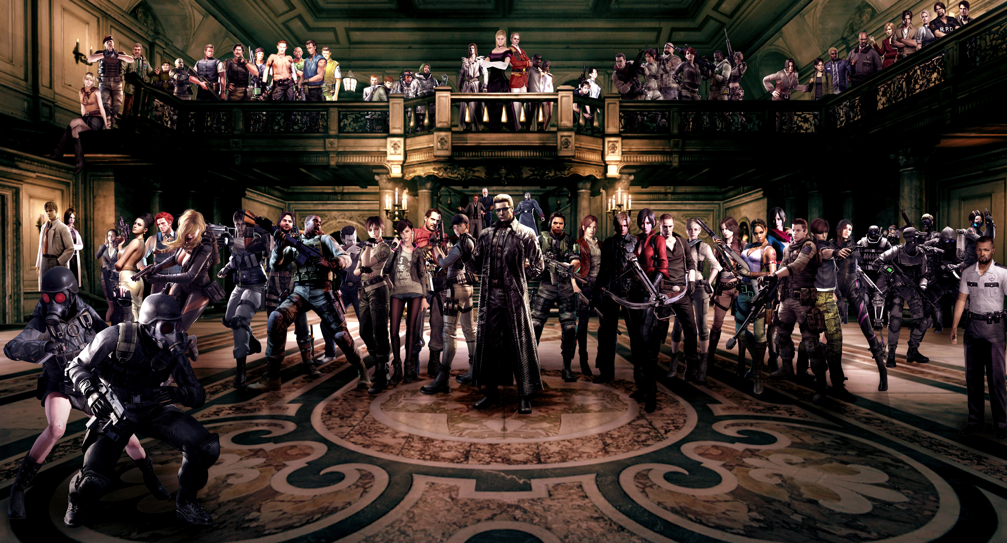 Hd wallpaper q mobile - Resident Evil Characters Games Hd 4k Wallpapers