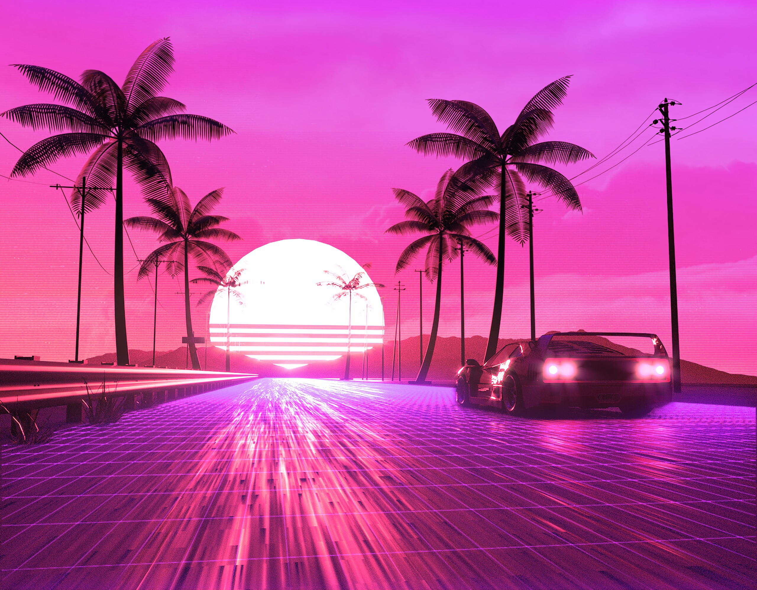 Retro 80s Ride Hd Artist 4k Wallpapers Images