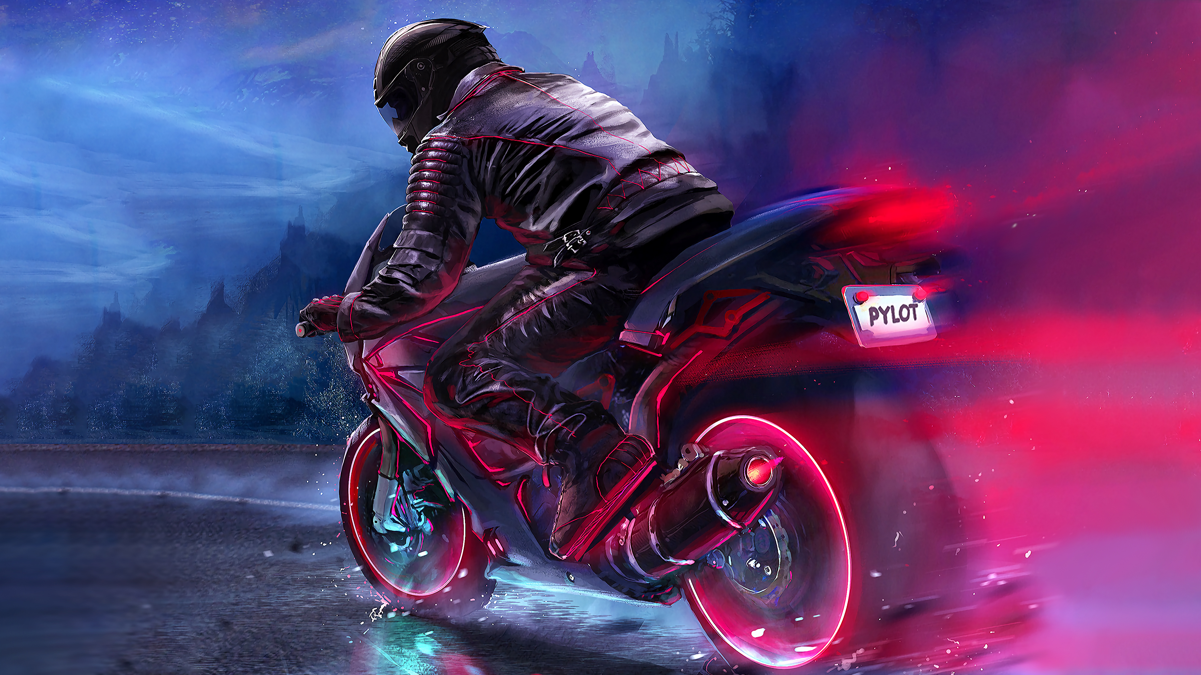 Retro Bike Rider 4k Hd Artist 4k Wallpapers Images