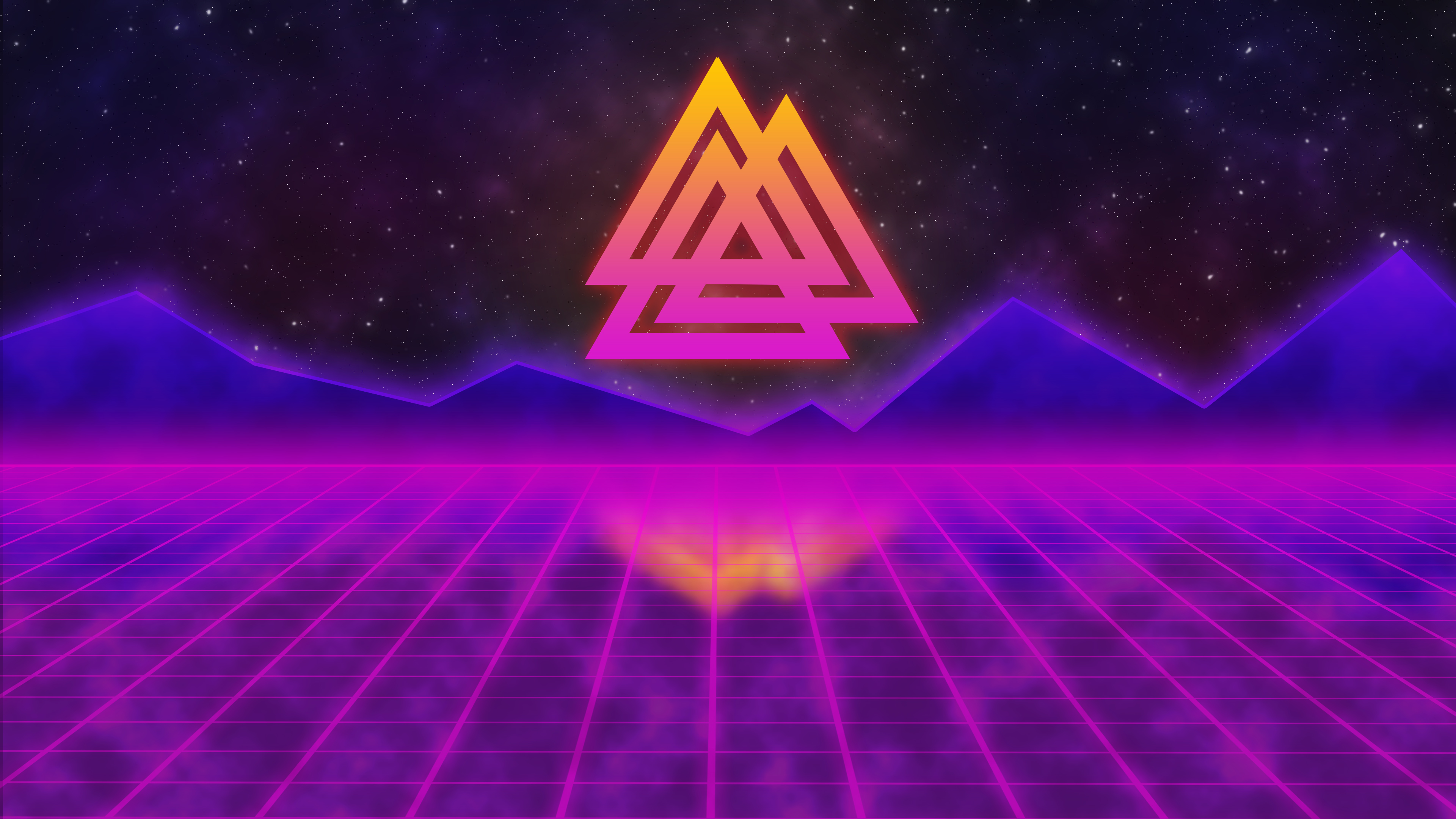 Retrowave viking hd artist 4k wallpapers images - Space 80s wallpaper ...