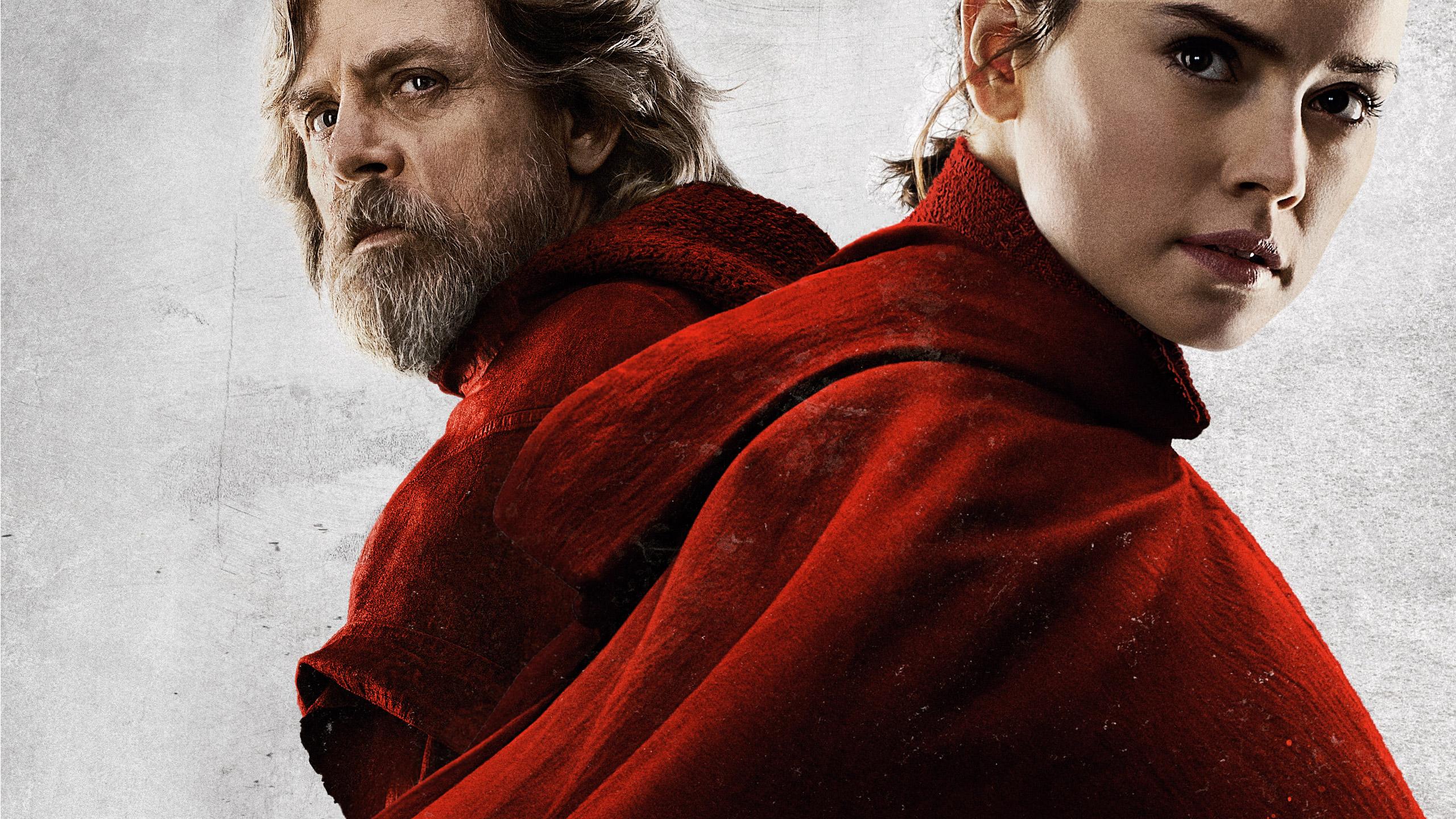 Rey And Luke Skywalker In Star Wars The Last Jedi 2017 Hd