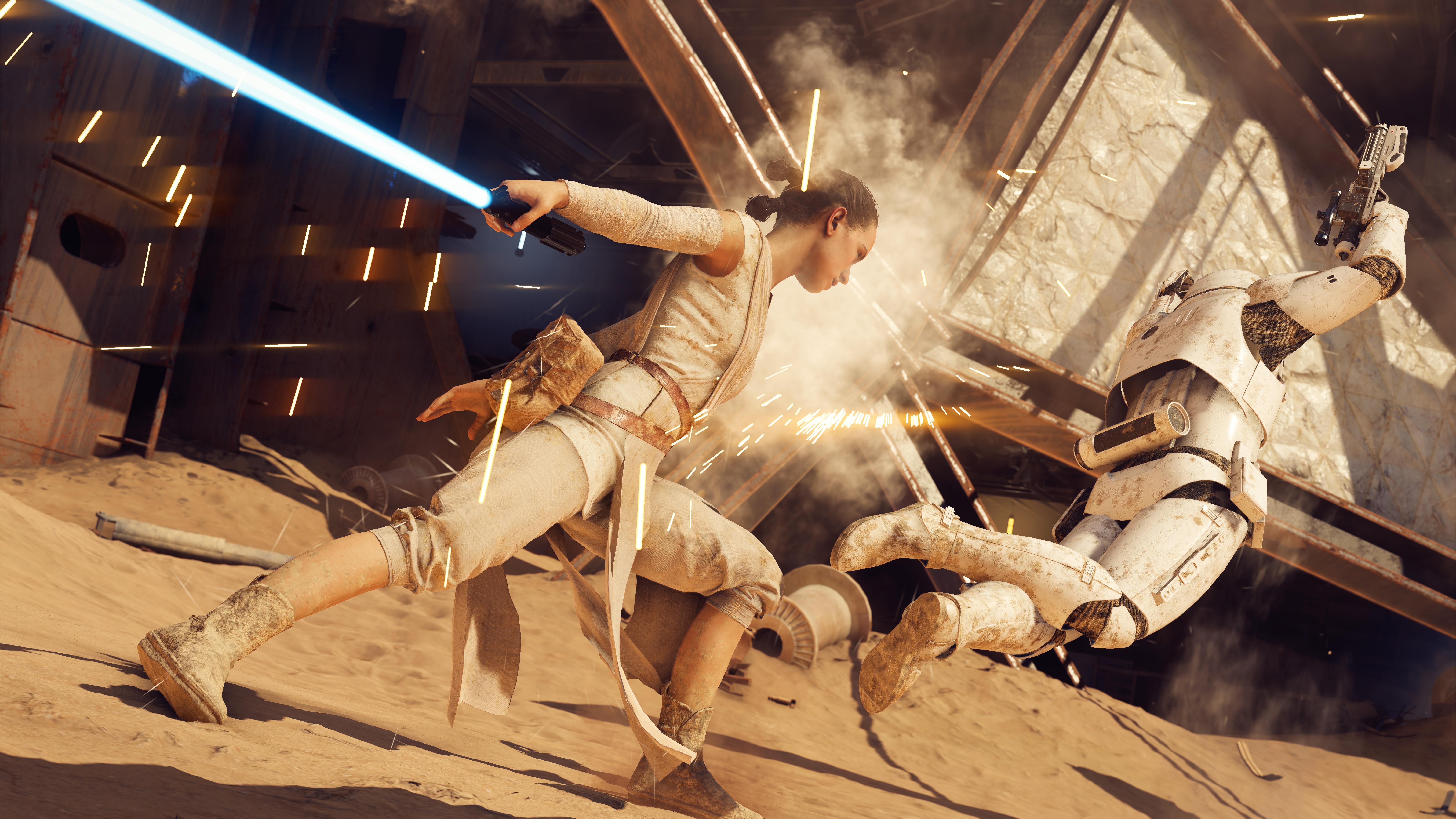 Star Wars Battlefront 2 Background: Rey Star Wars Battlefront II 8k, HD Games, 4k Wallpapers