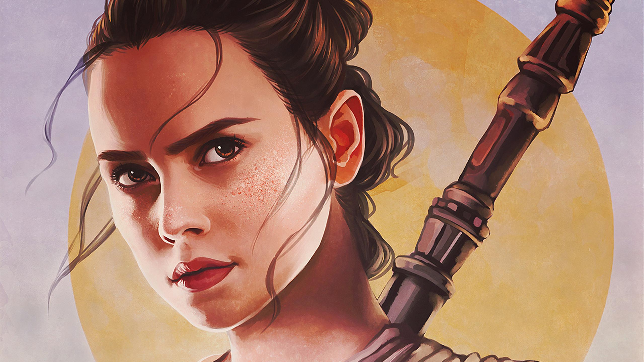 Rey Star Wars Fanart Hd Artist 4k Wallpapers Images
