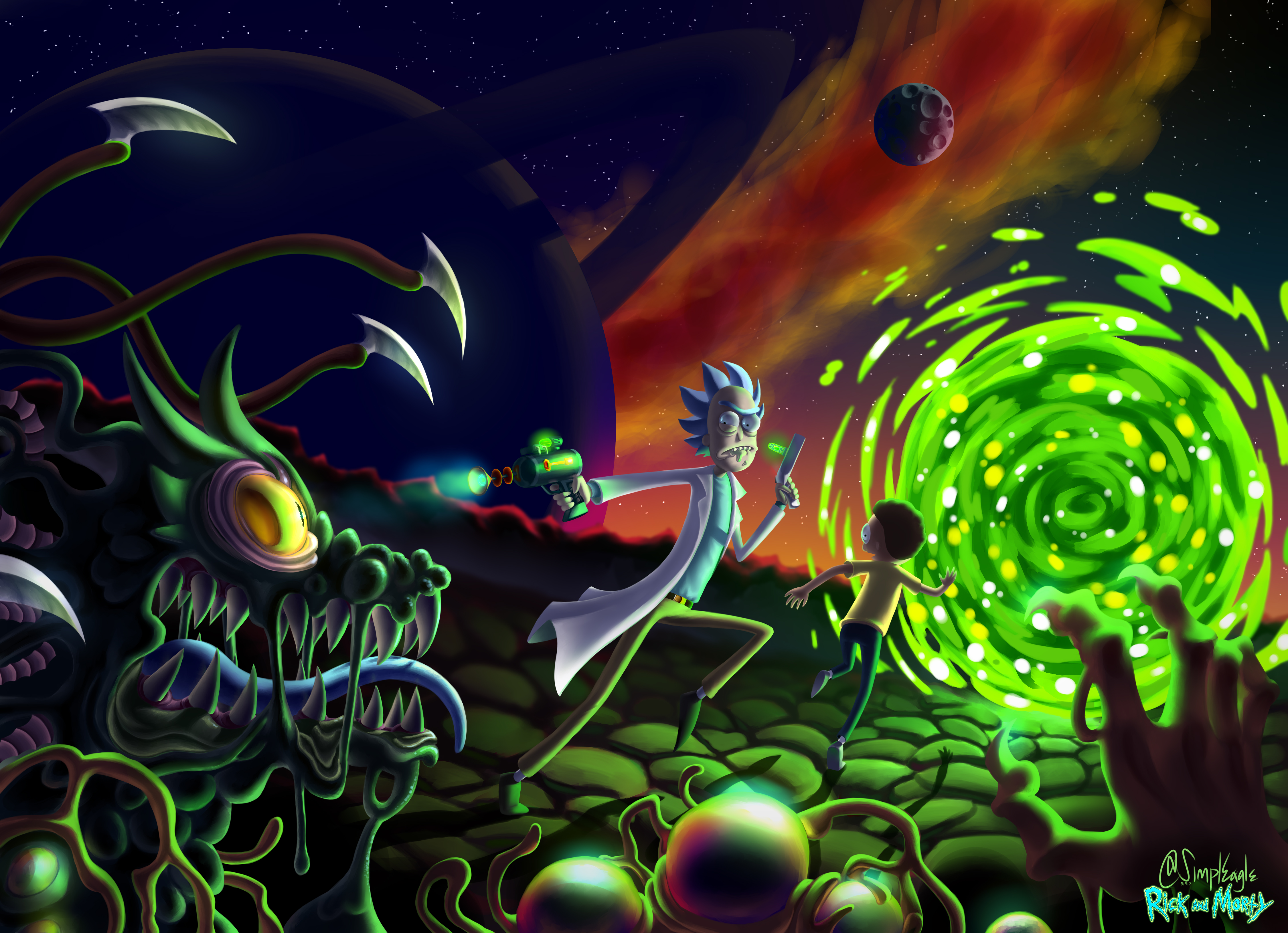 Rick And Morty 5k Fan Art, HD Tv Shows, 4k Wallpapers ...