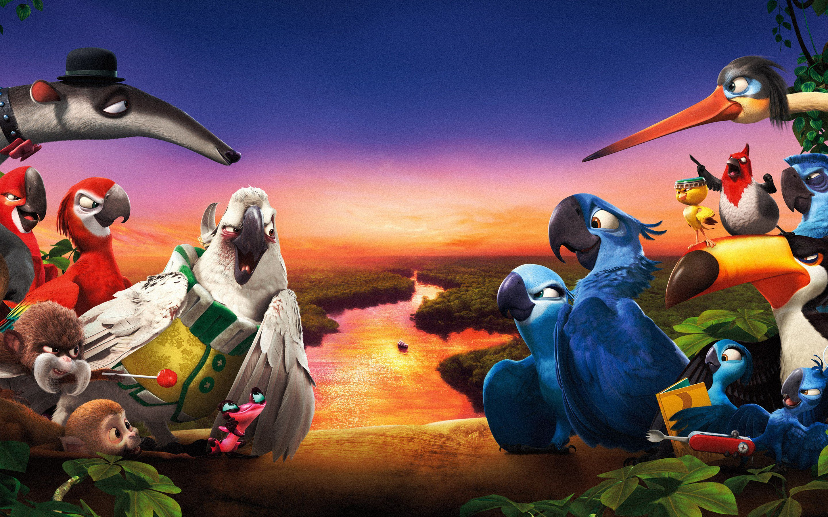 rio 2 movie wide, hd movies, 4k wallpapers, images, backgrounds