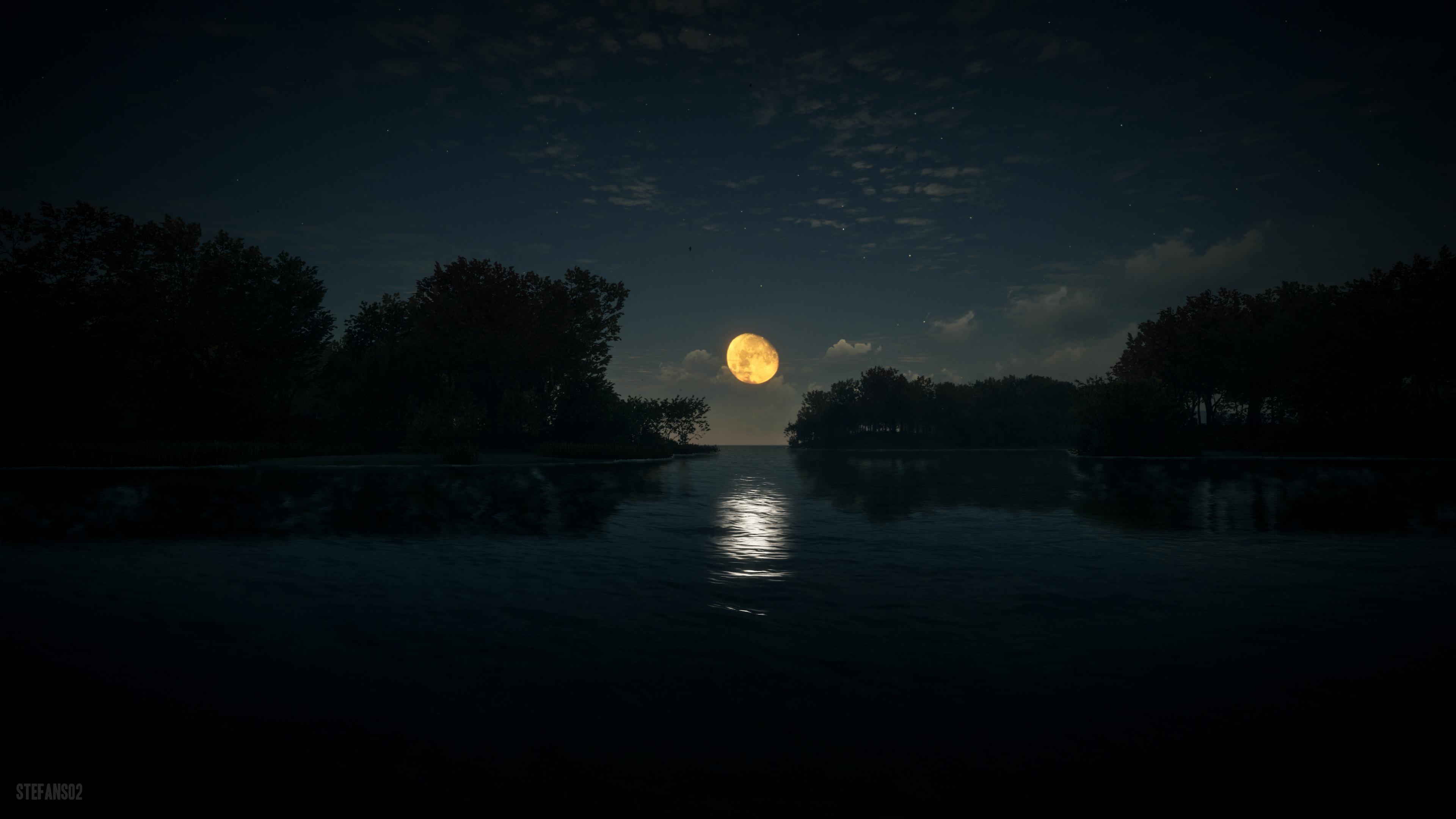 River Stream Dark 4k, HD Nature, 4k Wallpapers, Images ...