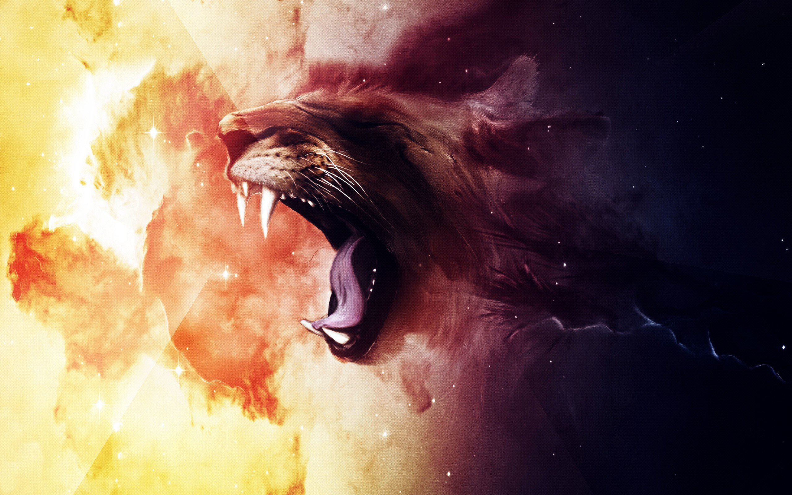Creative Detailed Hd Fantasy Wallpapers: Roaring Lion, HD Creative, 4k Wallpapers, Images