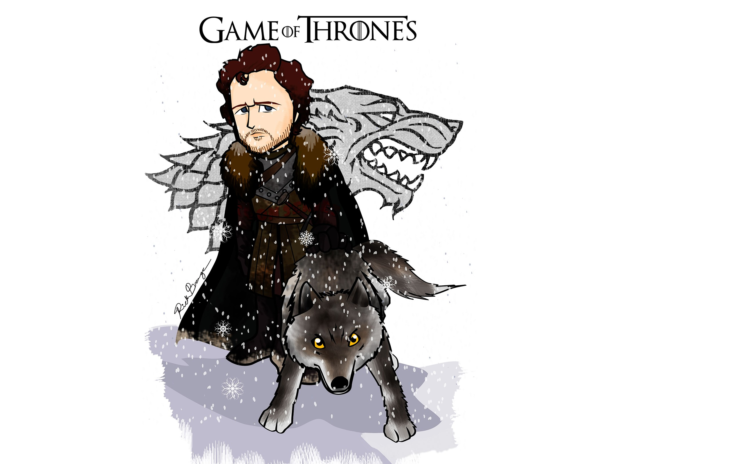 Game Of Thrones Minimalist Wallpaper: Robb Stark Minimalism, HD Tv Shows, 4k Wallpapers, Images