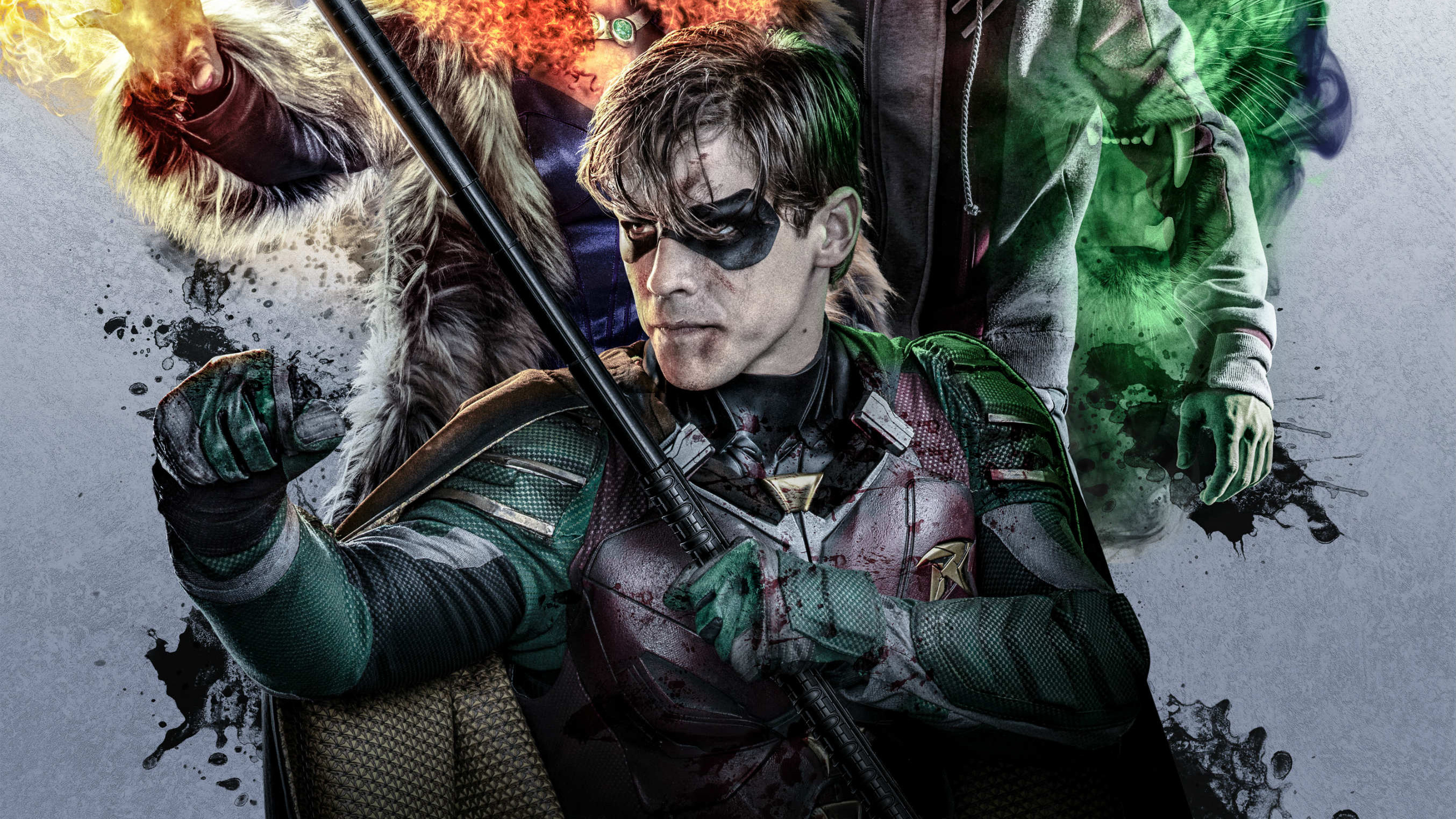 Robin in titans 2018 hd tv shows 4k wallpapers images - Tv series wallpaper 4k ...