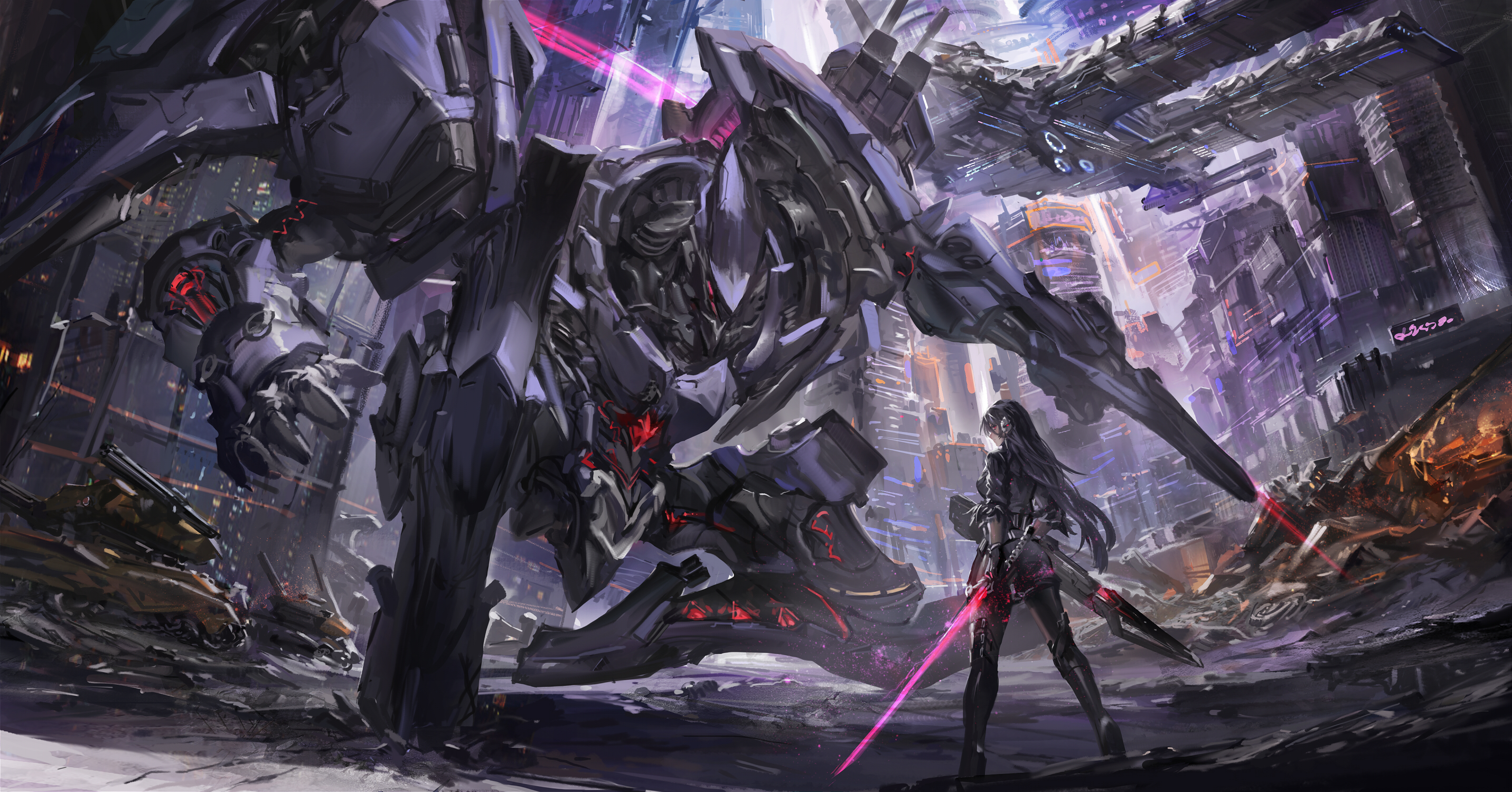 2560x1440 robot scifi anime war 1440p resolution hd 4k - Best war wallpapers hd ...